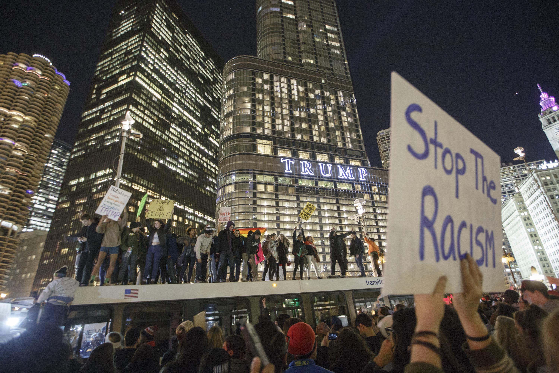 Trump Protest Chicago