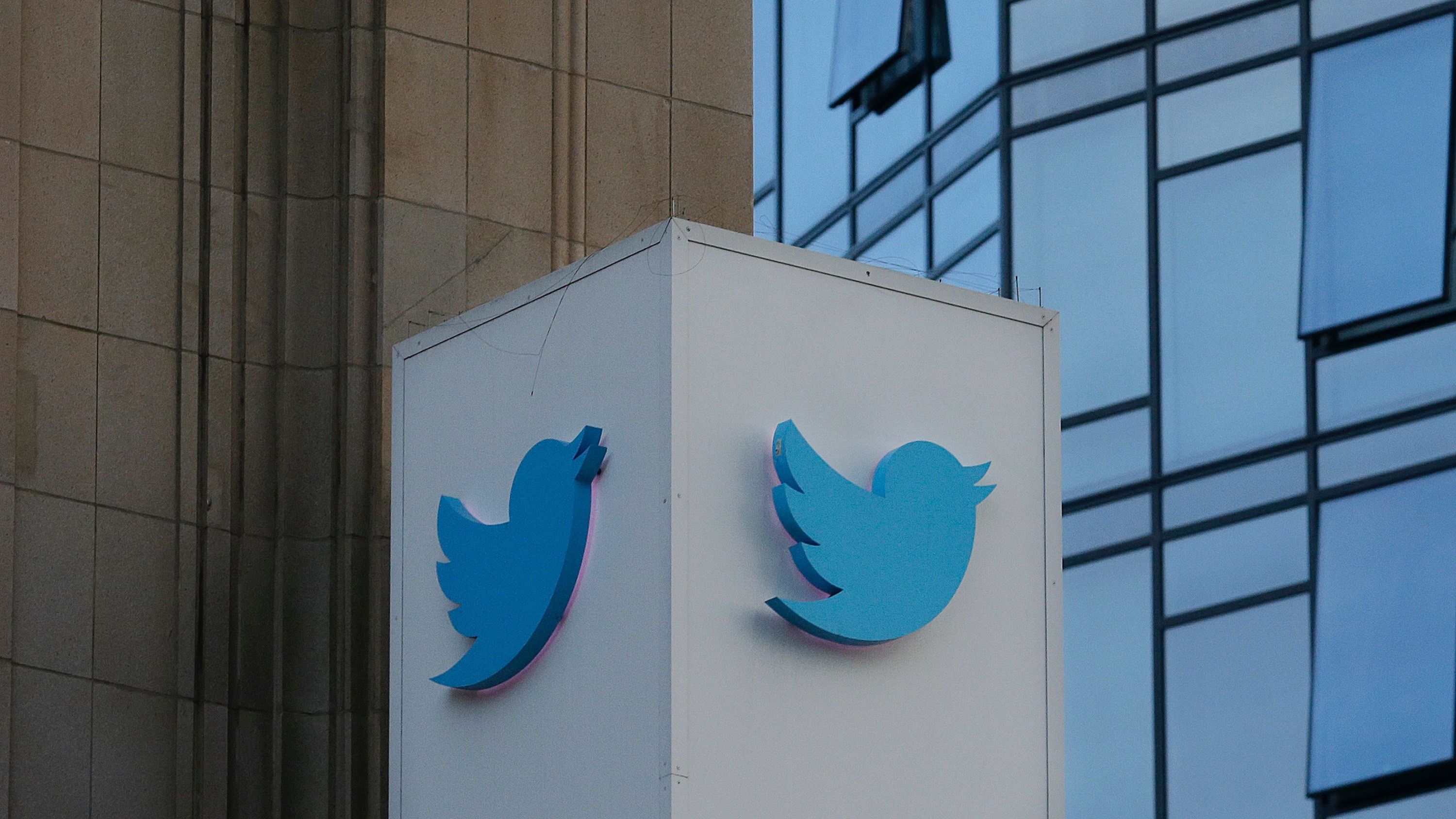 A Twitter sign is shown outside of its headquarters in San Francisco, Wednesday, Oct. 26, 2016. (AP Photo/Jeff Chiu)