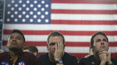 Clinton supporters on election night