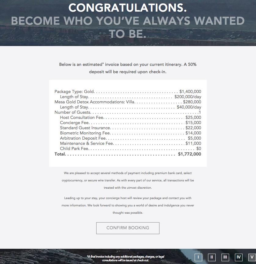 Westworld price estimate