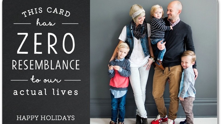 Real holiday cards.