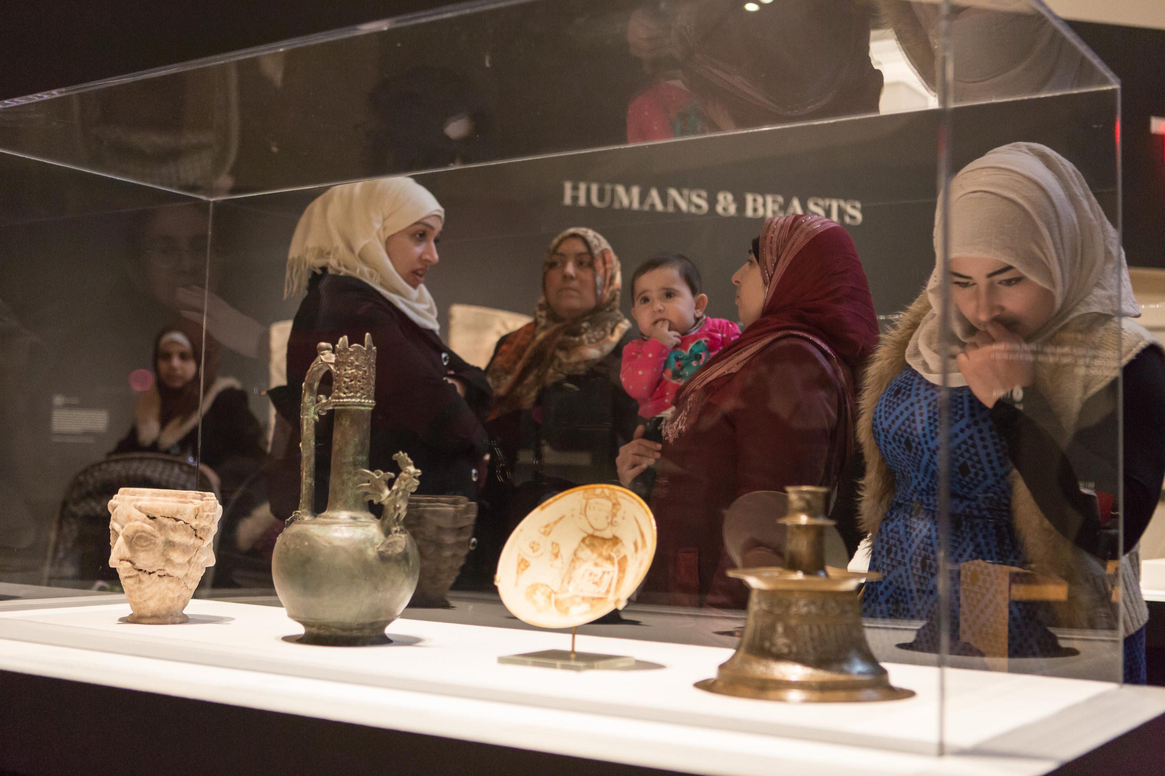Syrian refugee children visiting Aga Khan Museum in Toronto