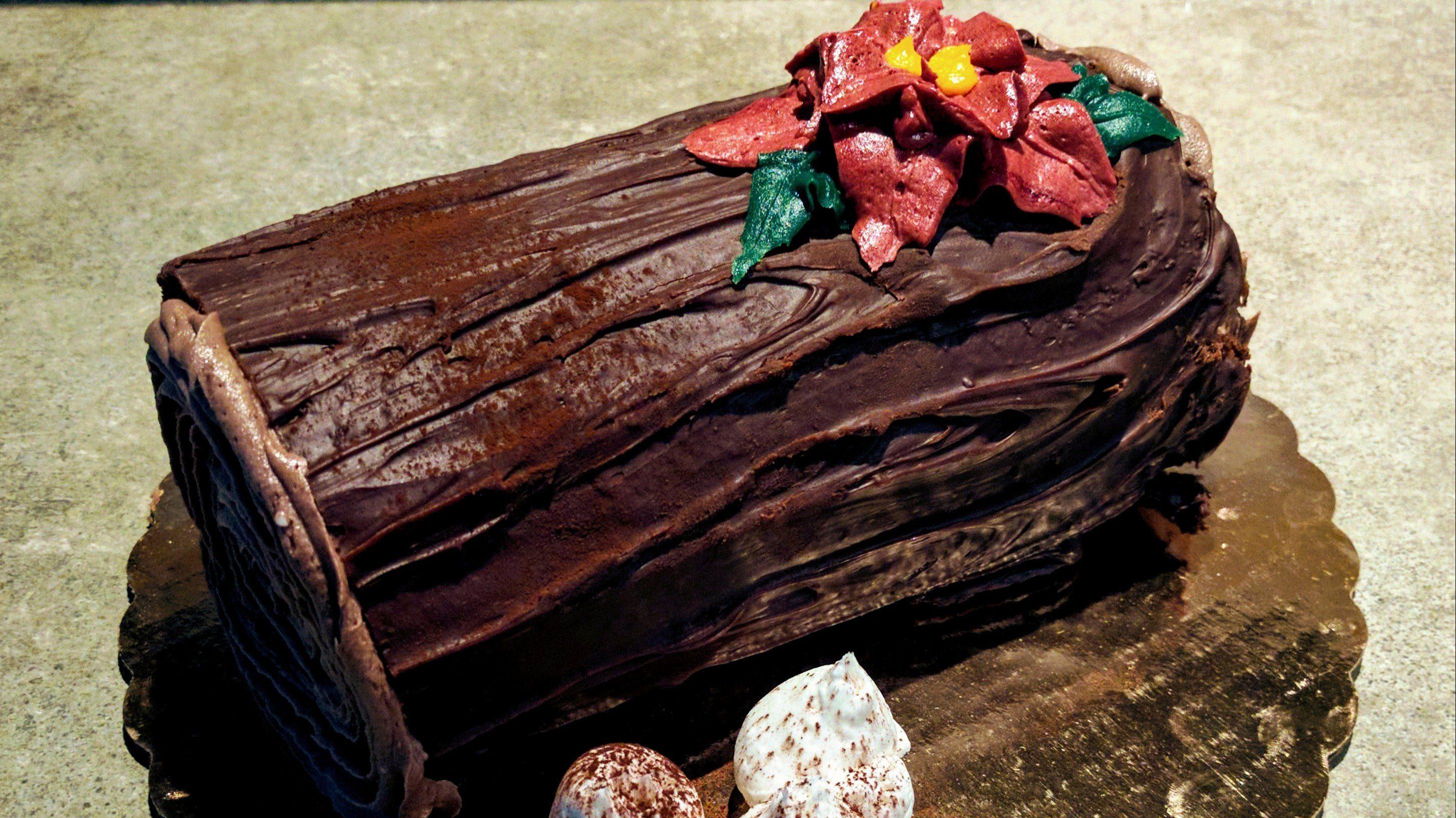 yule log cake buche de noel