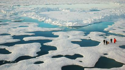 NOAA scientists explore the Arctic during a 2005 mission
