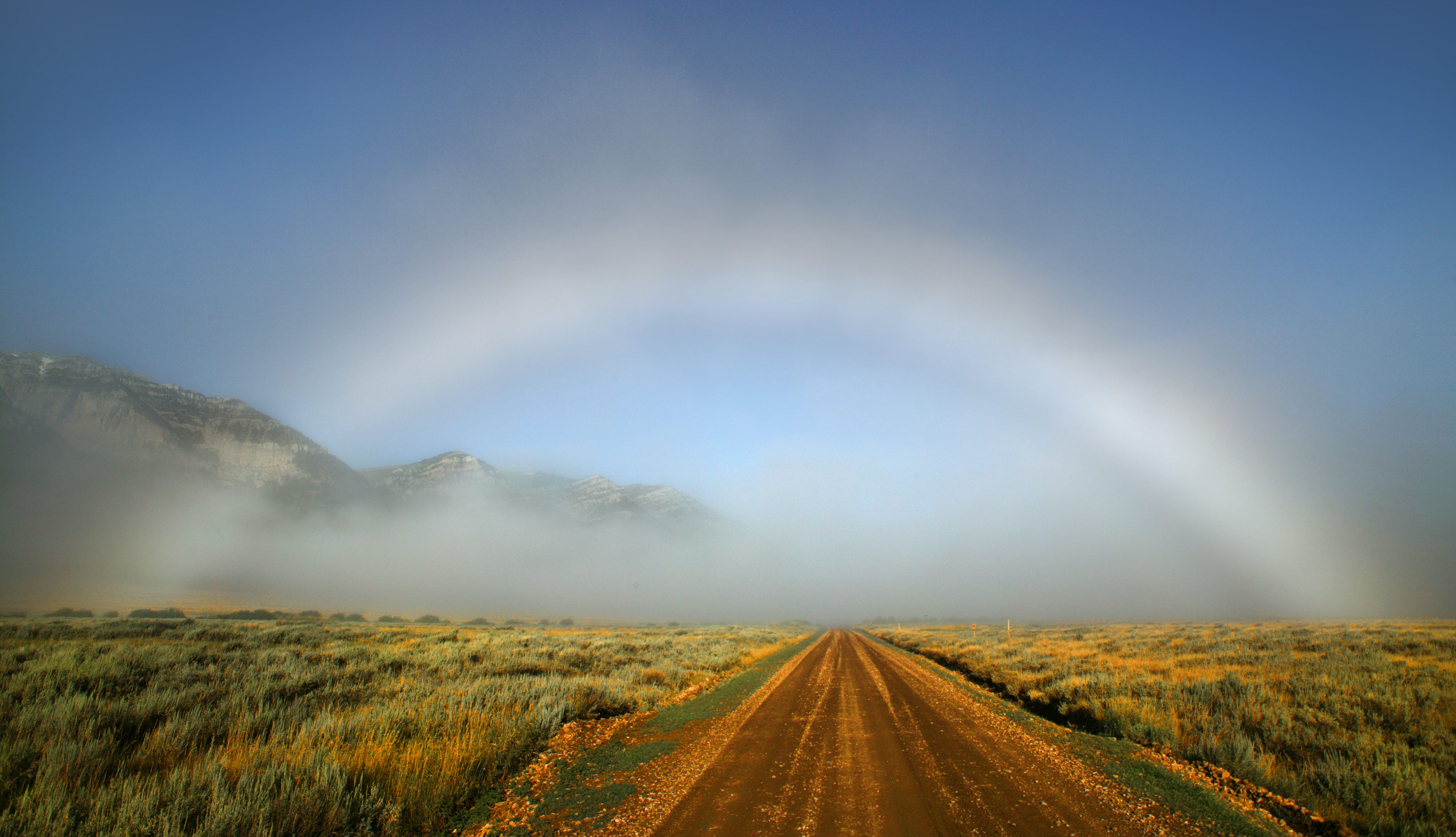 A fog bow spotted in the Red Rock Lakes National Wildlife Refuge.