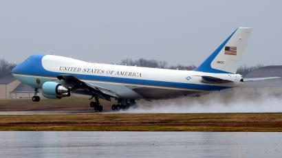 Air force One, with President Barack Obama aboard, takes off from Andrews Air Force Base, Md., Tuesday, Dec. 6, 2016. President-elect Donald Trump wants the government's contract for a new Air Force One canceled.