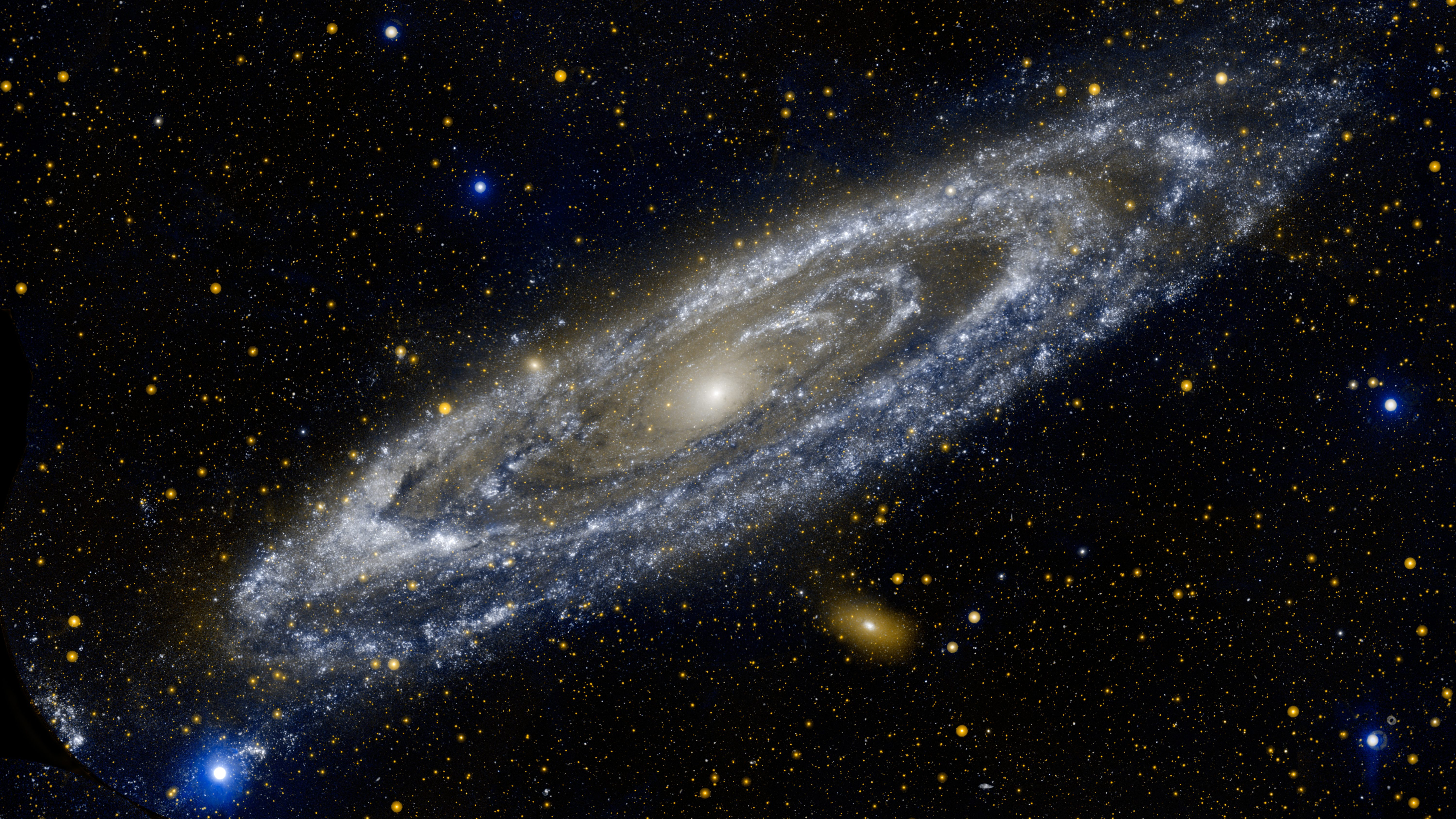 The Andromeda Galaxy, in an image taken by NASA's Galaxy Evolution Explorer in 2012.