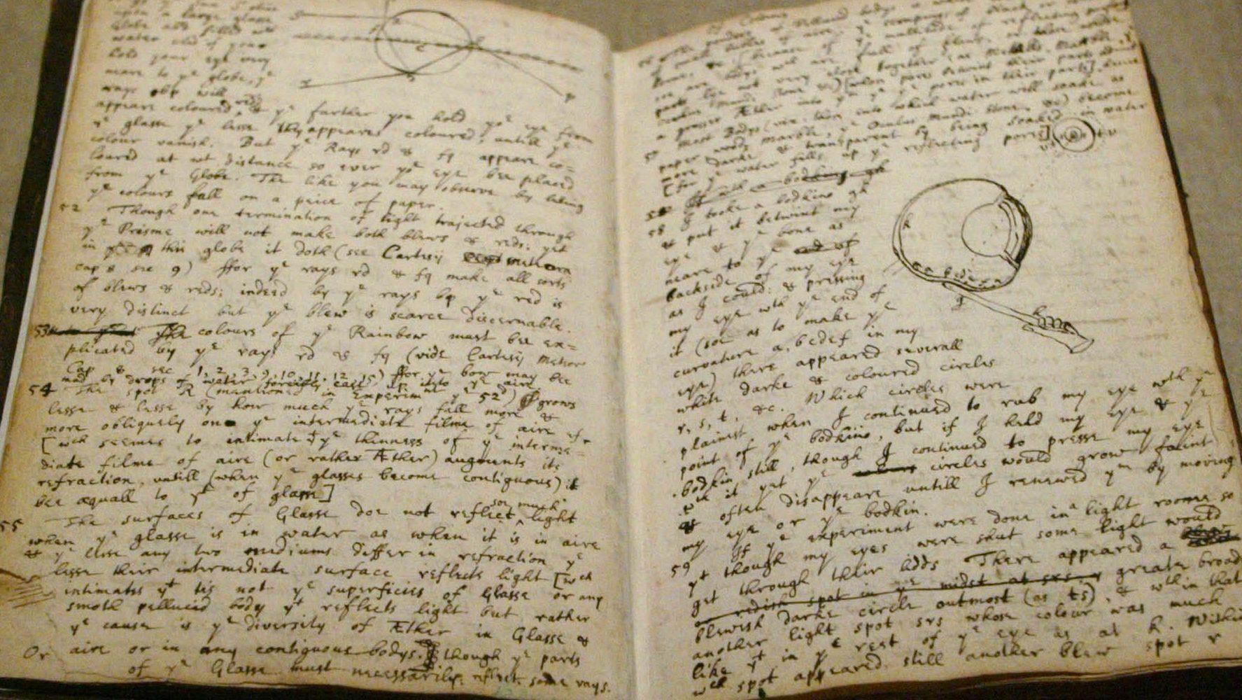 Isaac Newton notebook