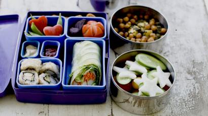 A Japanese bento box and Indian Tiffin