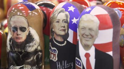 Putin, Clinton, Trump Russian dolls