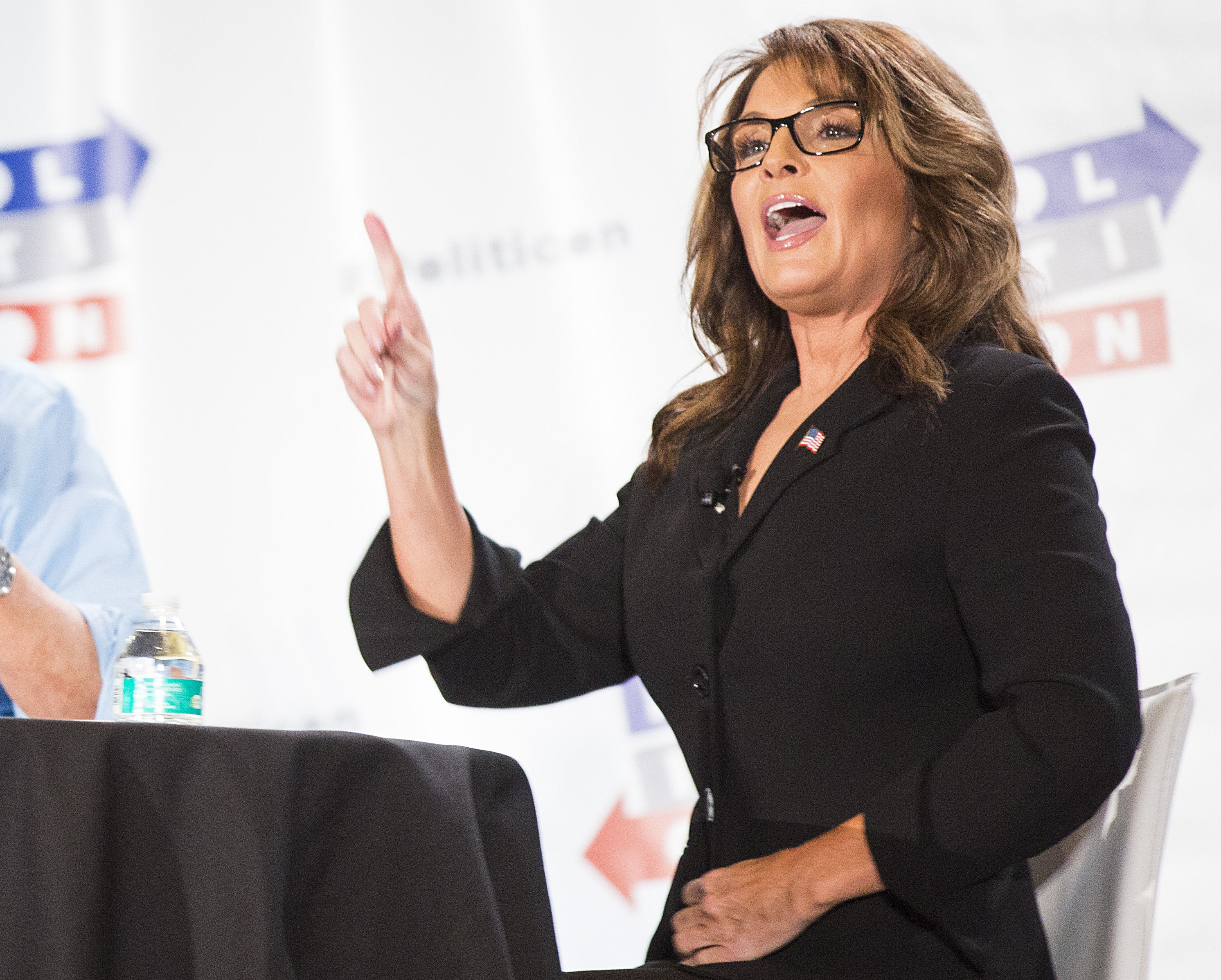 Sarah Palin seen at Politicon 2016 at The Pasadena Convention Center on Sunday, June 26, 2016, in Pasadena, CA. (Photo by Colin Young-Wolff/Invision/AP)