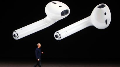 Tim Cook makes his closing remarks during an Apple media event in San Francisco