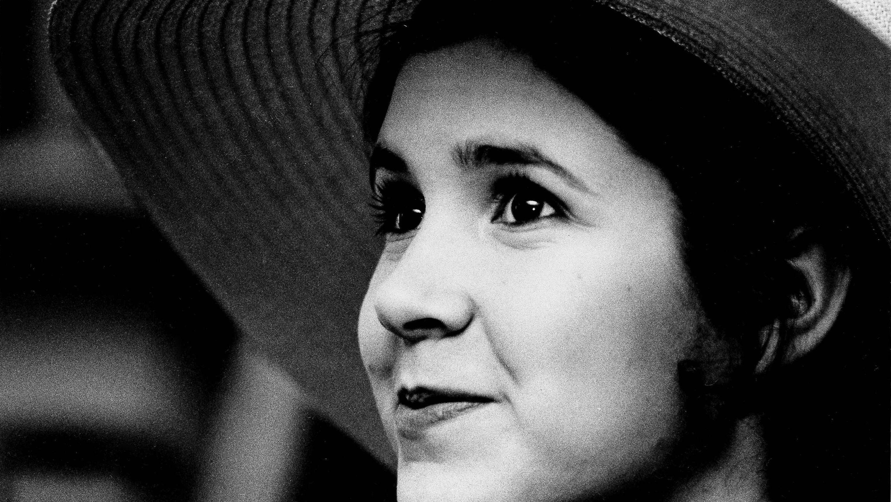 Carrie Fisher in 1973.