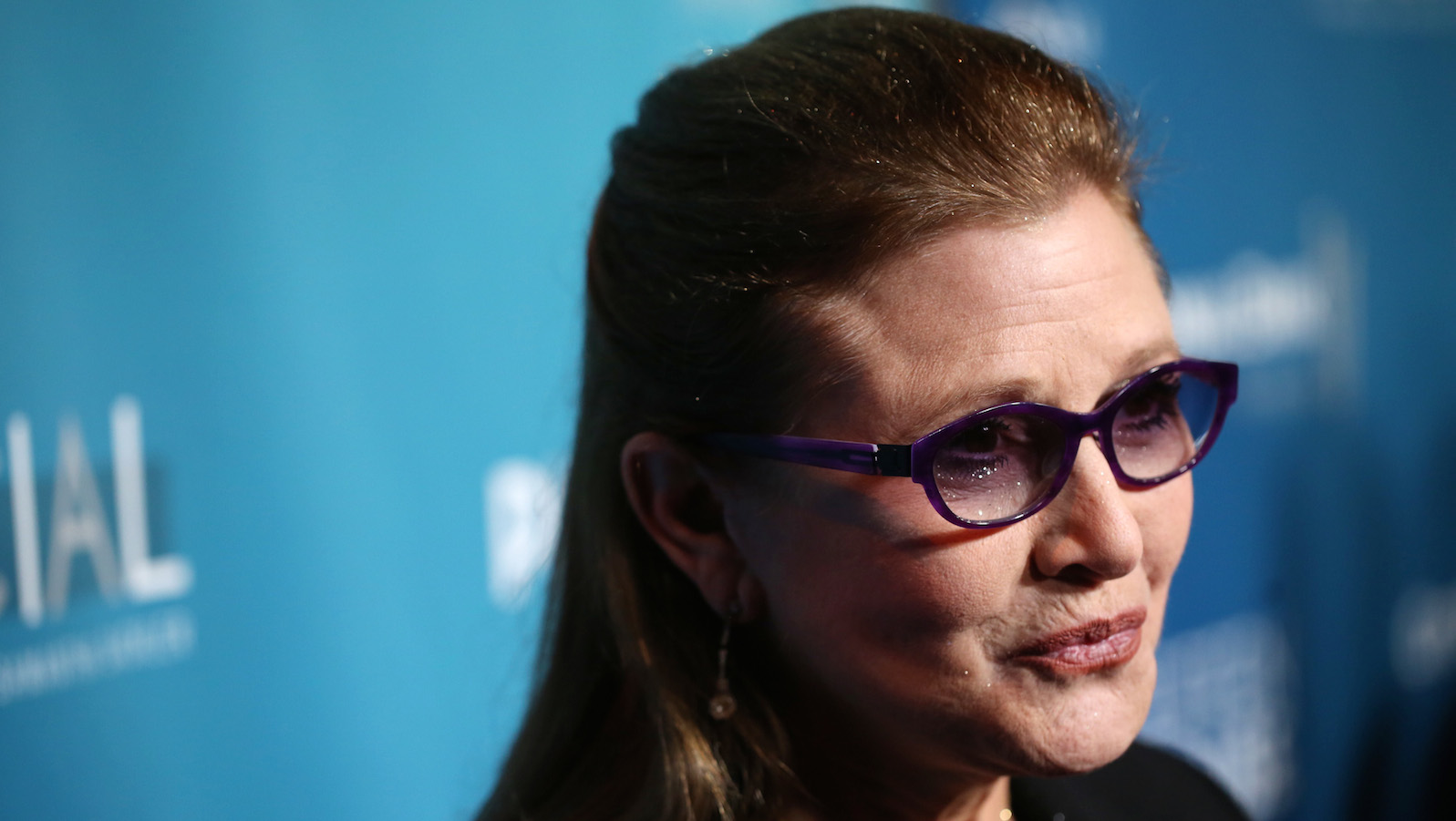 Carrie Fisher arrives at Backstage At The Geffen Gala on Saturday, March 22, 2014, in Los Angeles. (Photo by Matt Sayles/Invision for Geffen Playhouse/AP Images)