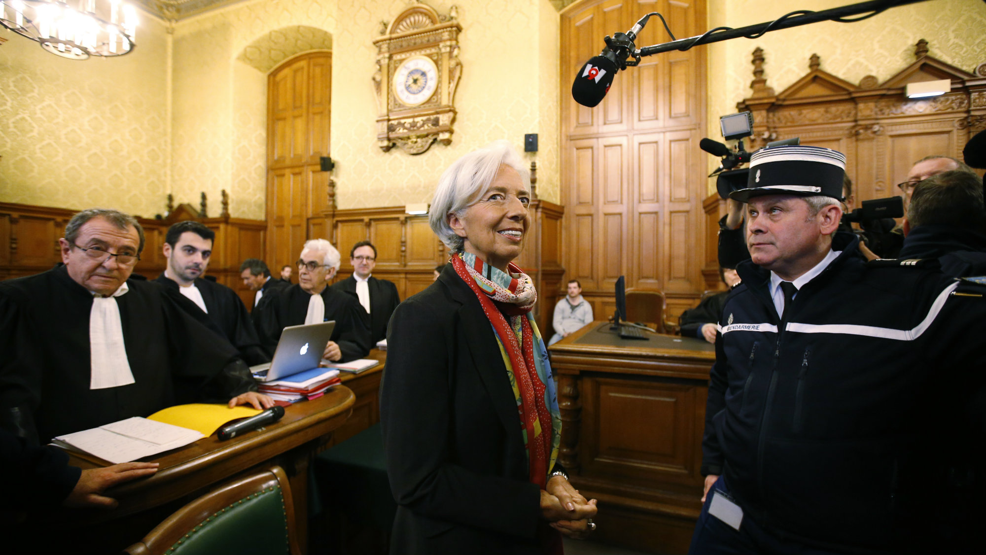 IMF managing director Christine Lagarde appears in court in Paris.