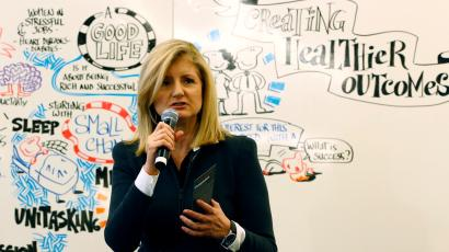 Arianna Huffington white boarding