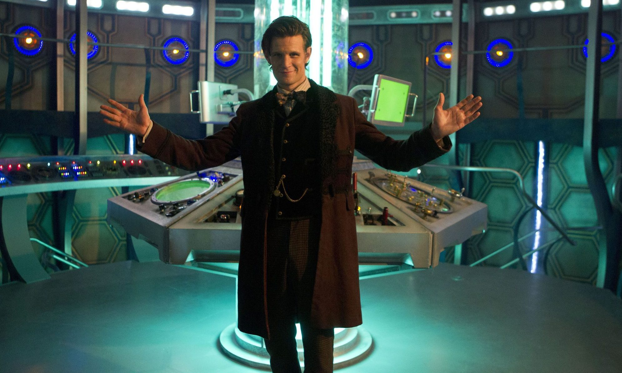Programme Name: Doctor Who - TX: 25/12/2012 - Episode: n/a (No. n/a) - Embargoed for publication until: 19/12/2012 - Picture Shows: BEHIND THE SCENES ON THE NEW SET **STRICTLY EMBARGOED FOR USE UNTIL 00:00:01 19th DECEMBER 2012** The Doctor (MATT SMITH), Tardis Interior - (C) BBc - Photographer: Adrian Rogers
