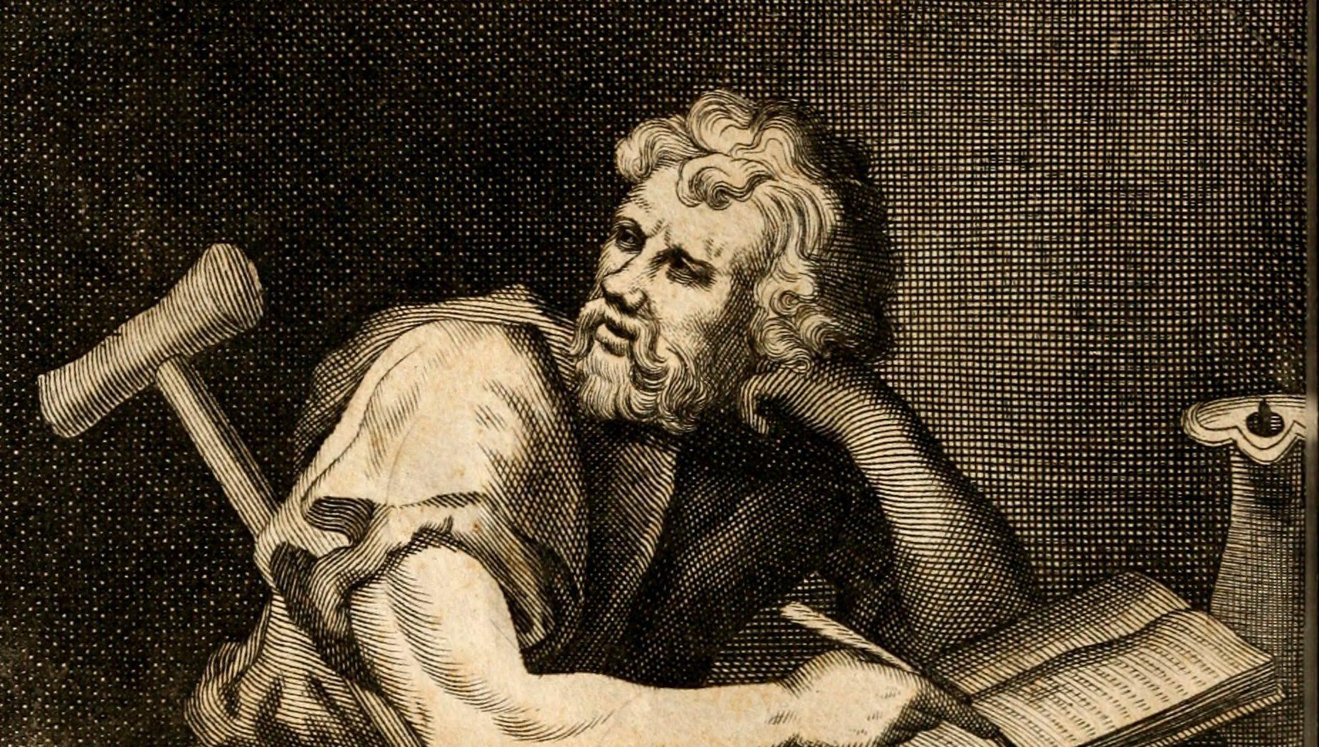 Imaginary portrait of Epictetus.
