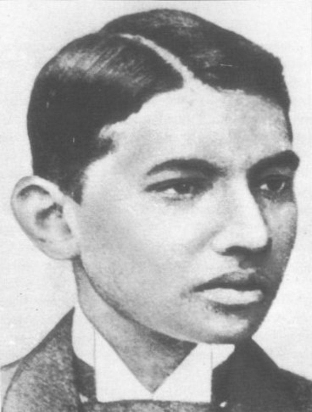 Gandhi as a law student in London.