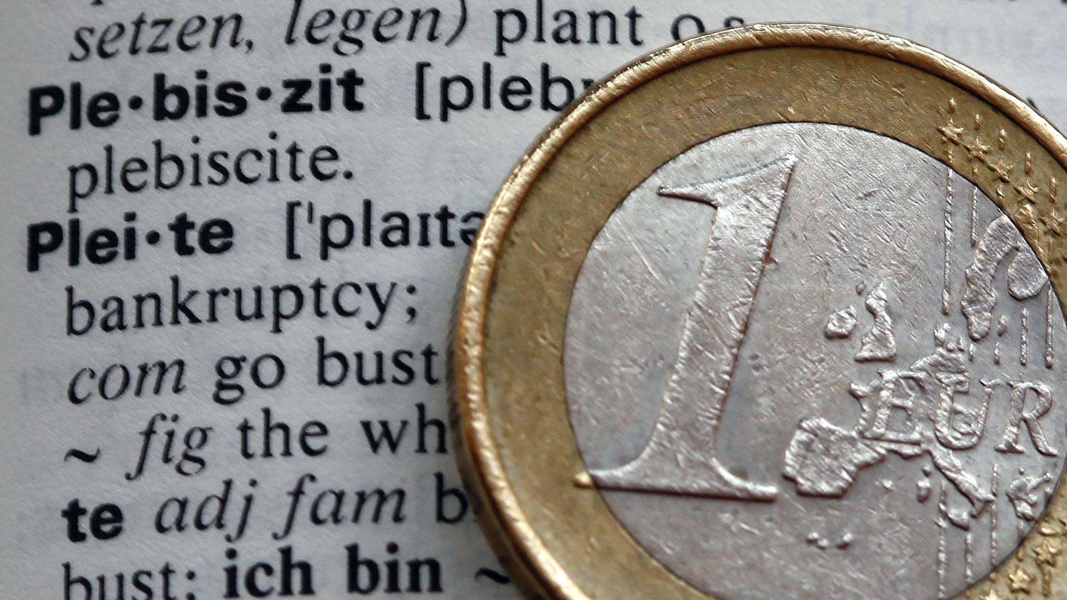 An English-German dictionary and euro.