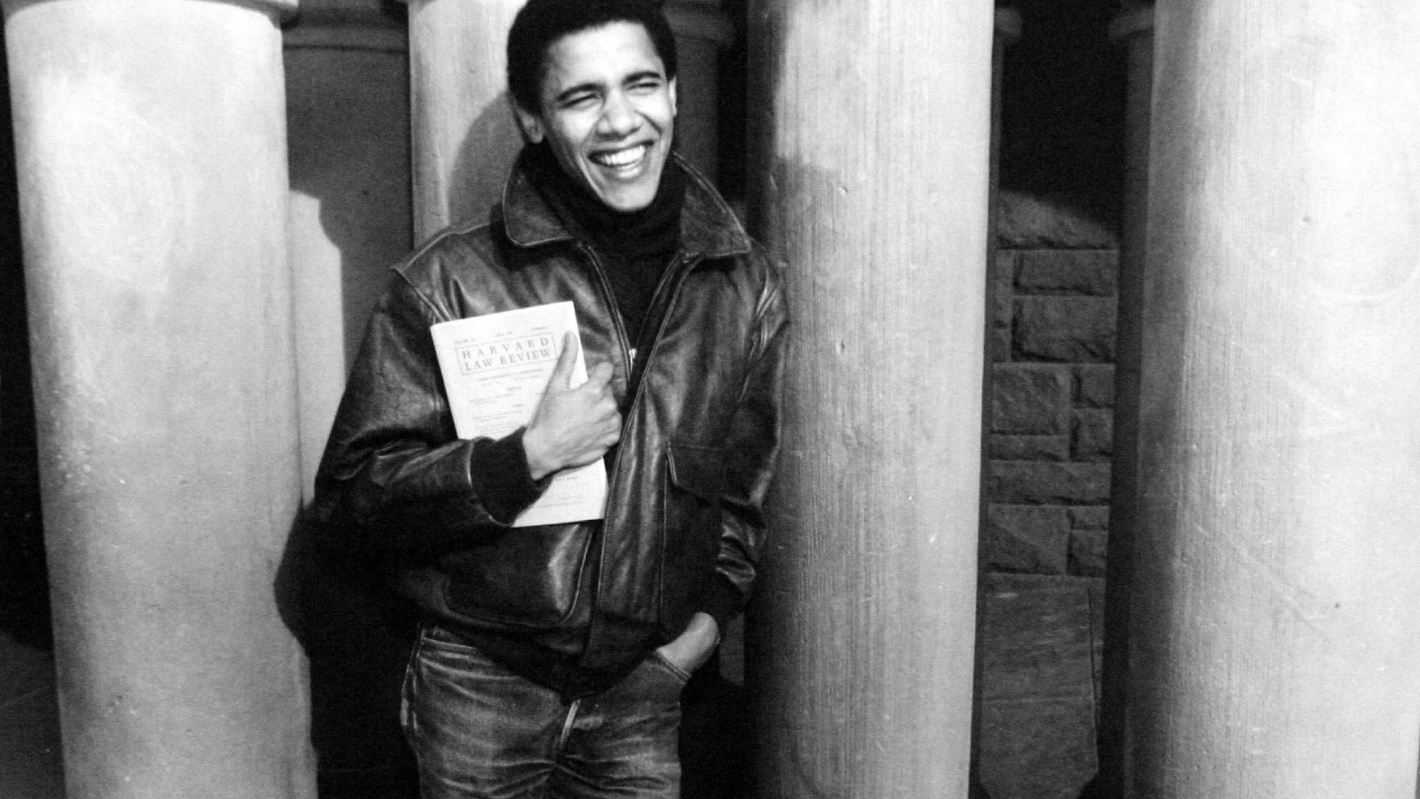 Obama at Harvard, several years after his pretentious period at Columbia.