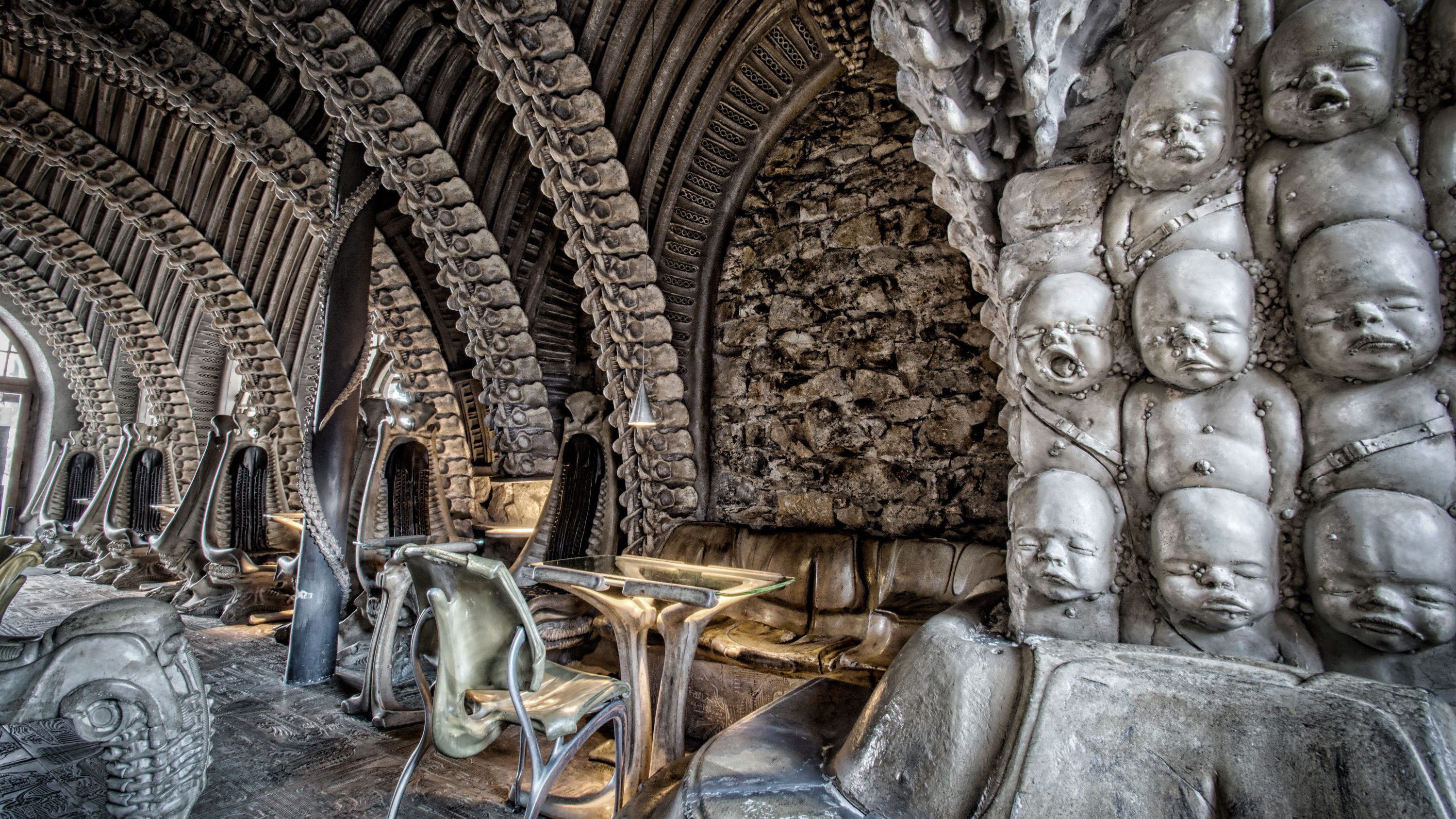 H.R. Giger Museum Bar in Gruyères, Switzerland
