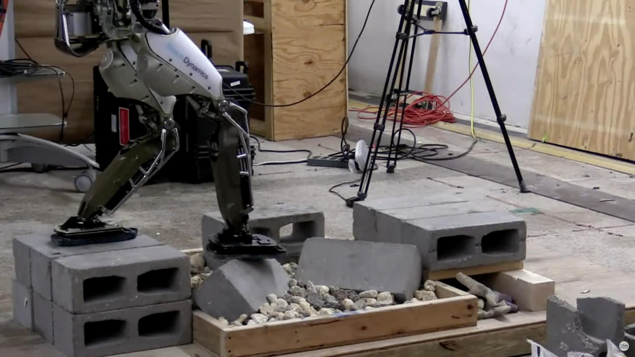 Alphabet's (GOOG) Boston Dynamics Altas robot can now traverse rocky terrain thanks to the IHMC