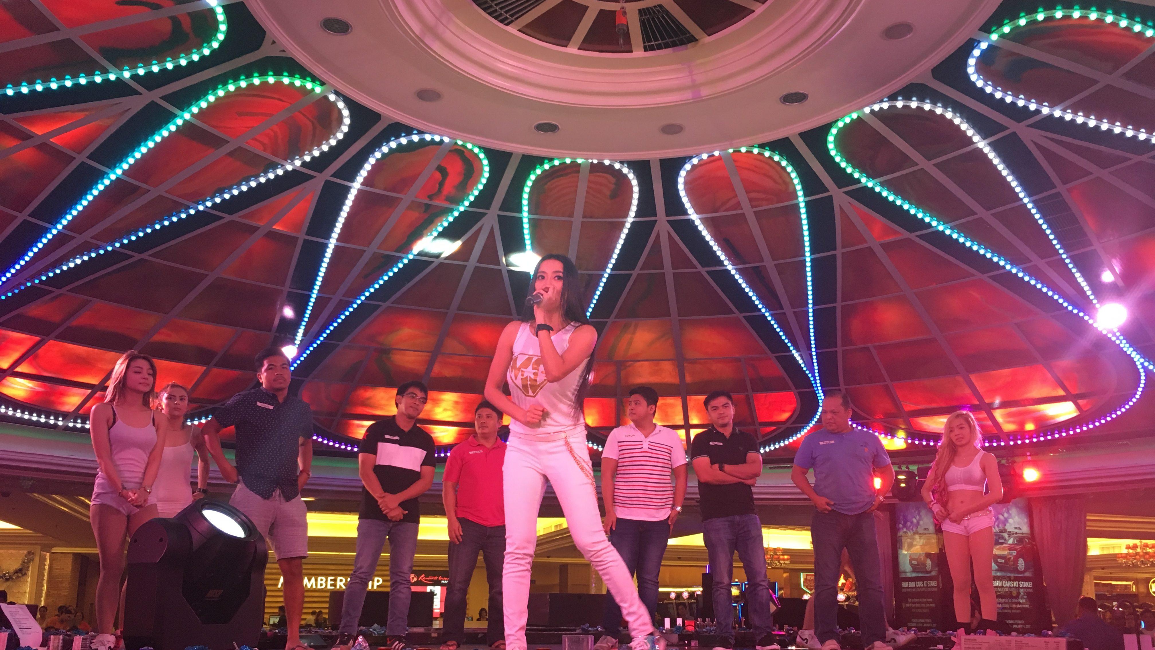 mocha uson with the mocha girls at resorts world manila