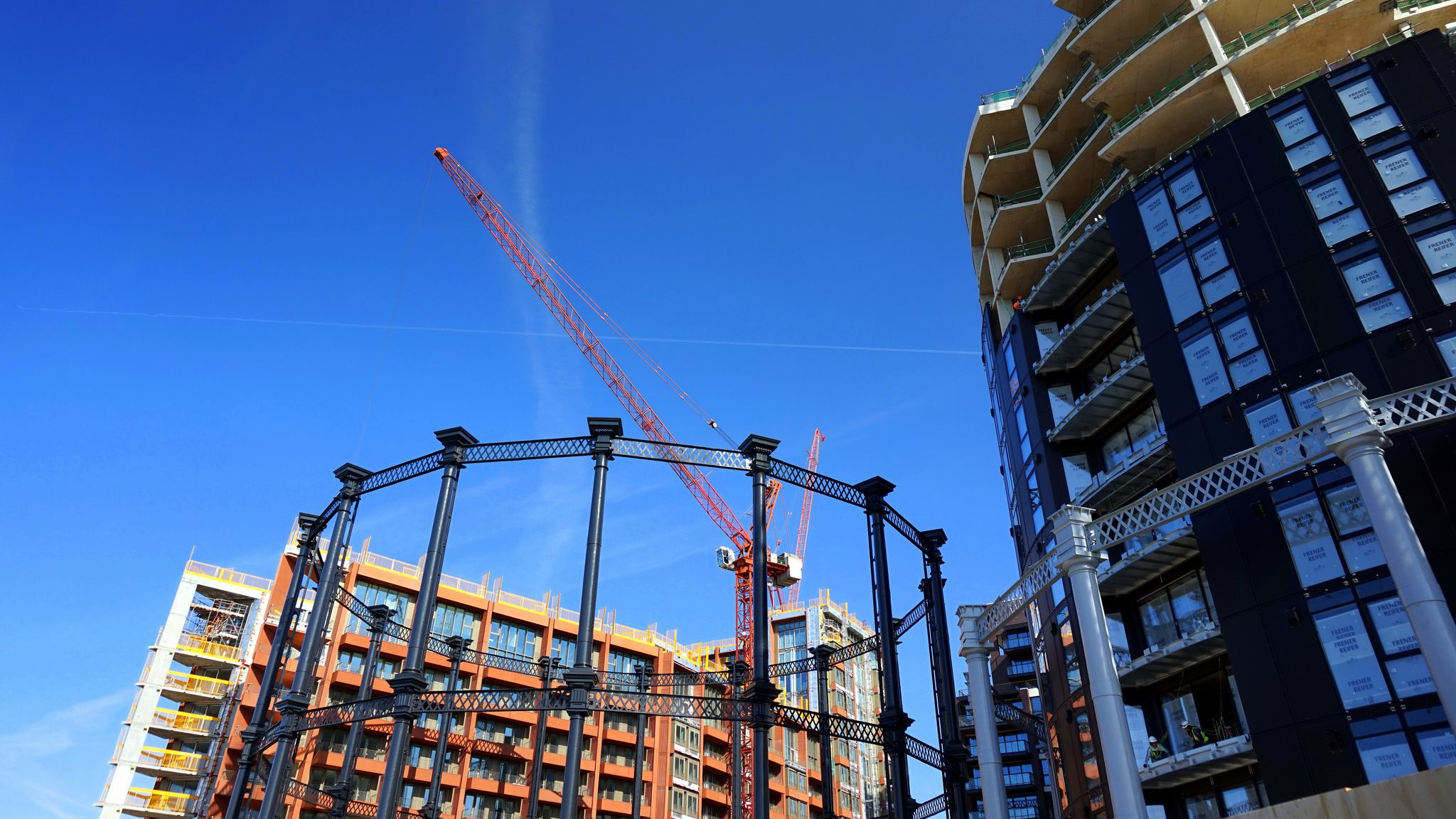 Gasholder Park and Buildings, King's Cross Central, London
