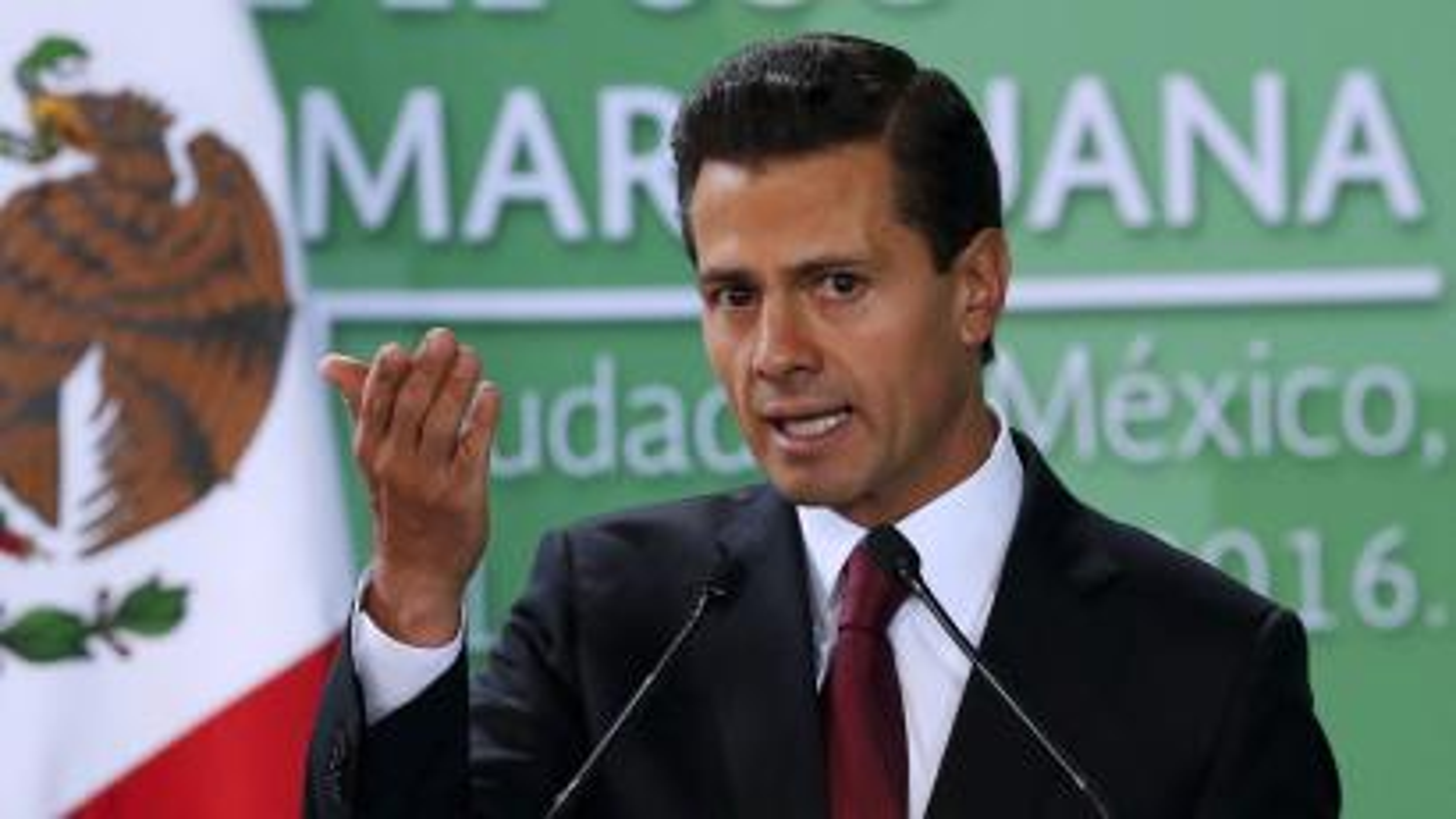 Mexico's President Pena Nieto speaks about marijuana-based medicines.