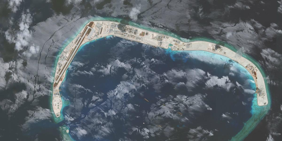 Mischief Reef in July 2016.