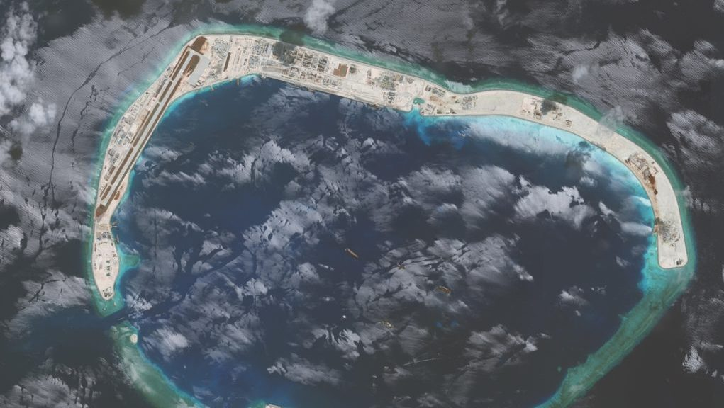 Mischief Reef in the South China Sea.