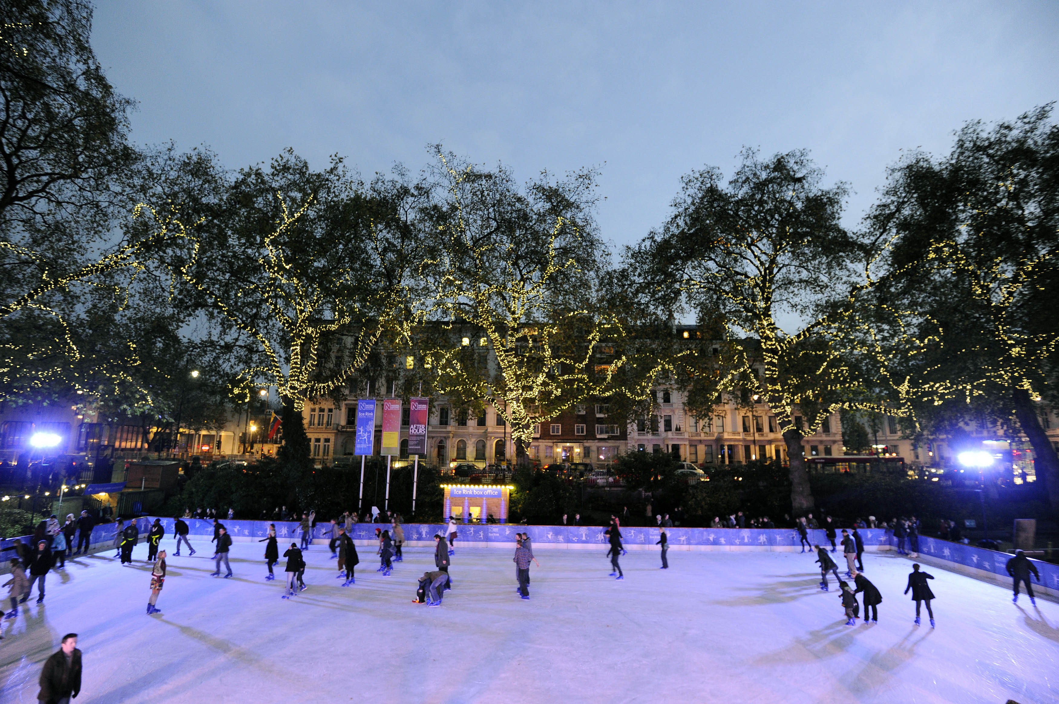 Natural History Museum ice rink.