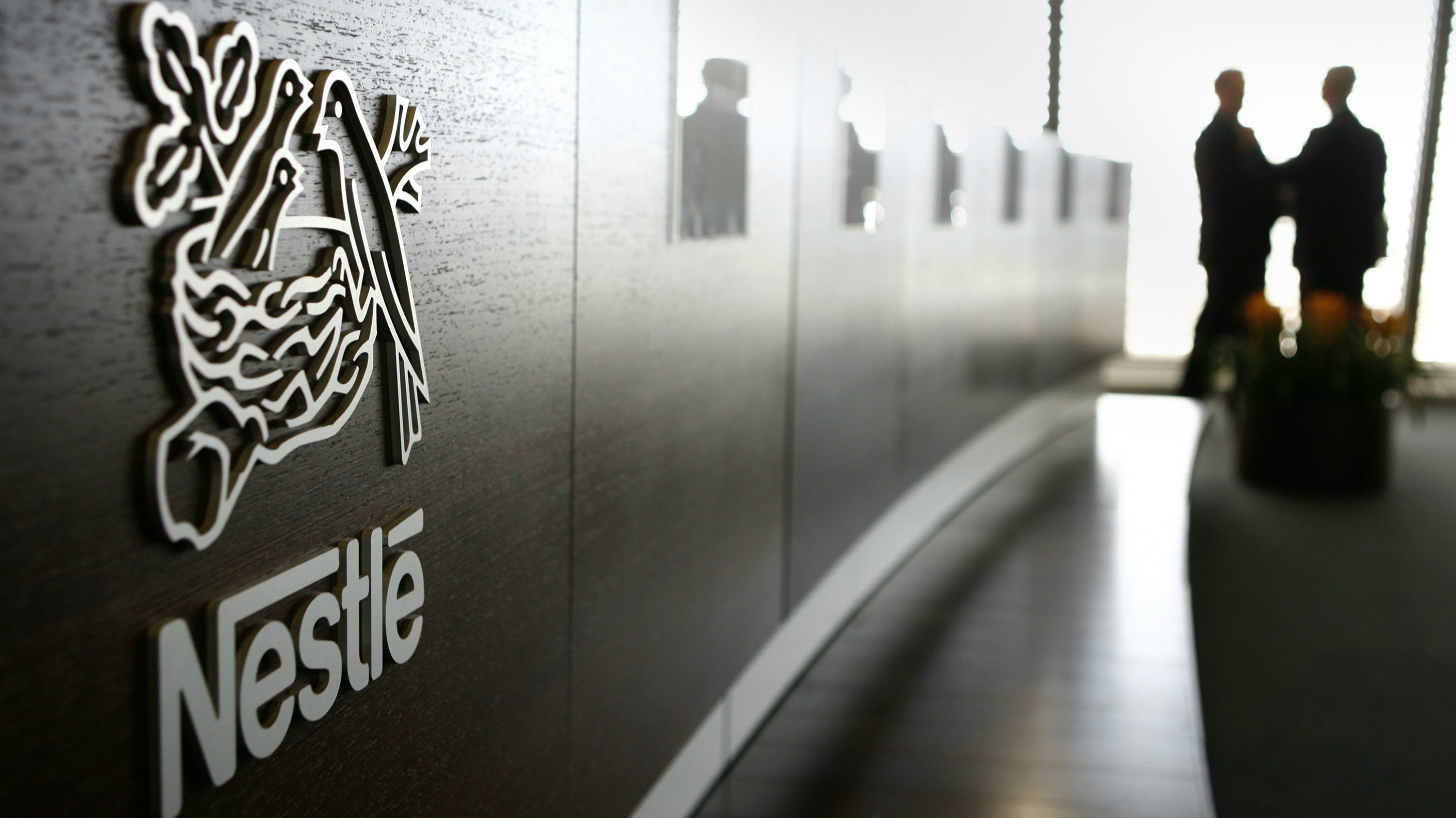 A photograph of the inside of a Nestle office