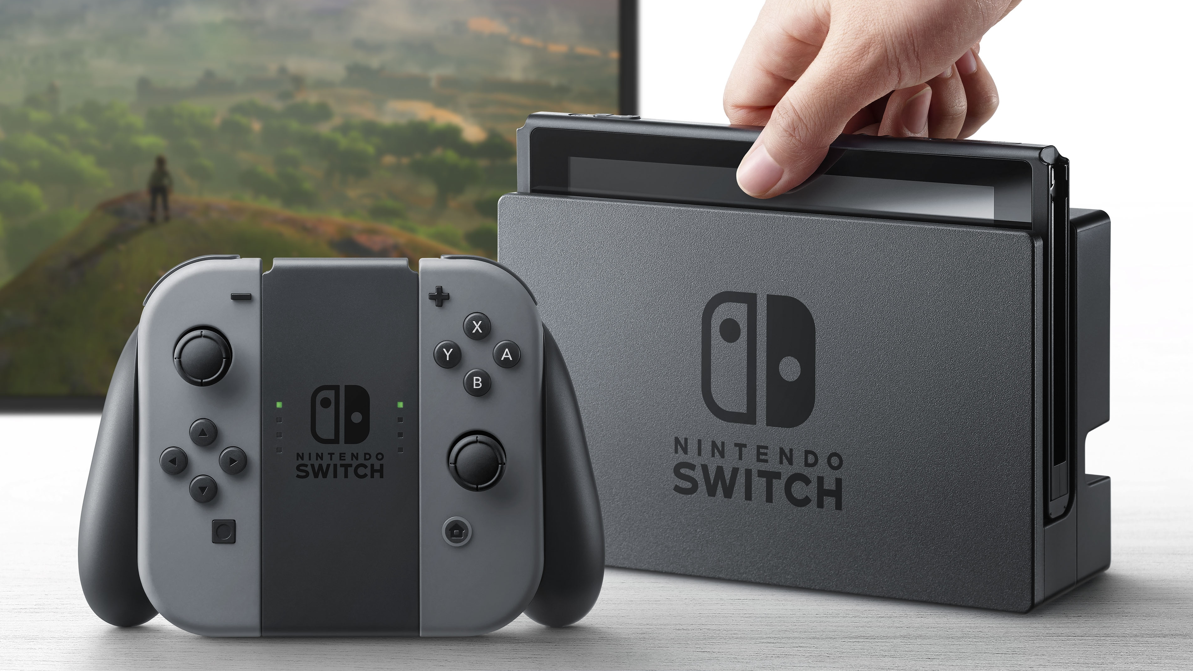 New Nintendo Switch console display.