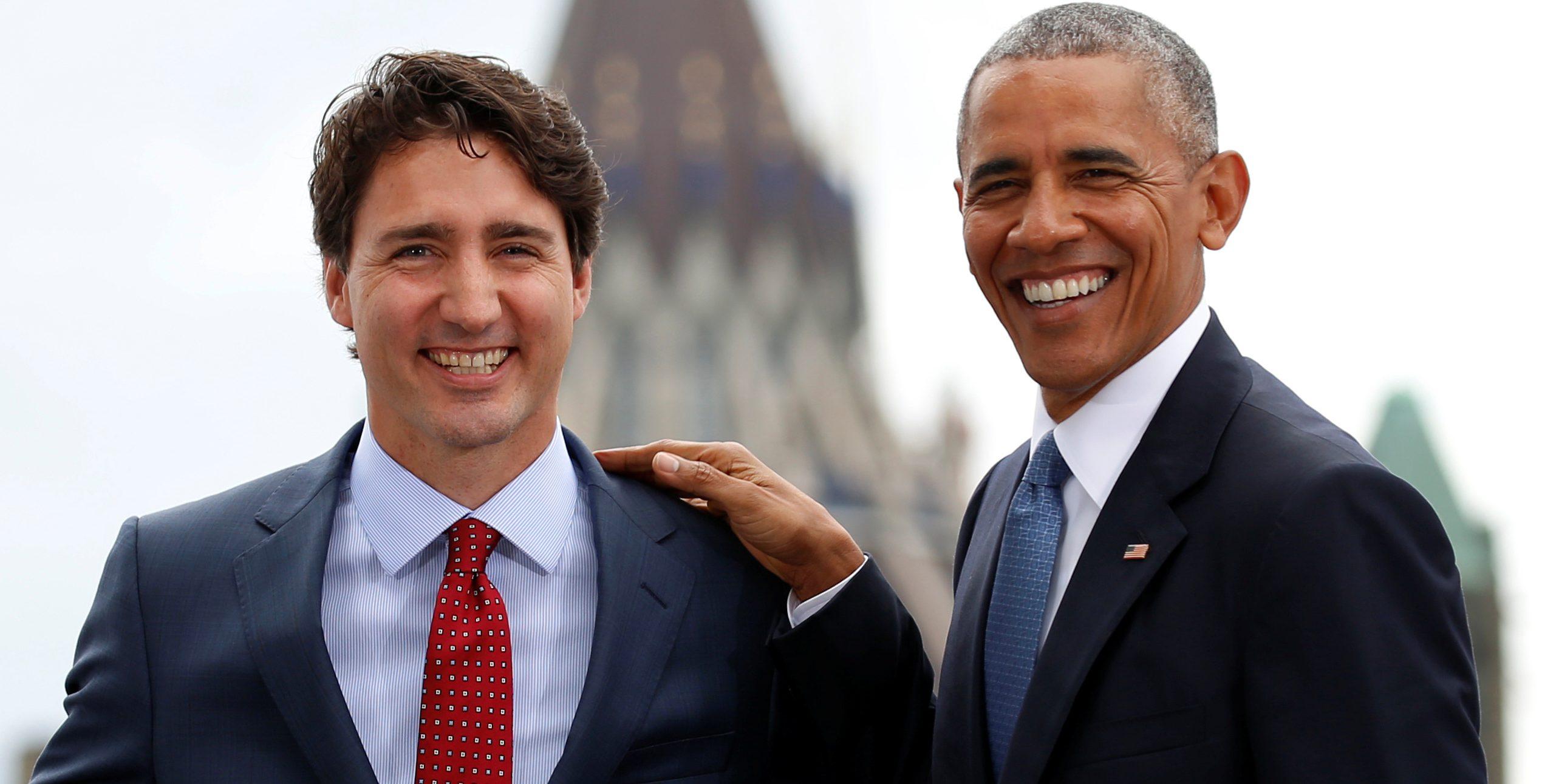 U.S. President Barack Obama and Canadian Prime Minister Justin Trudeau