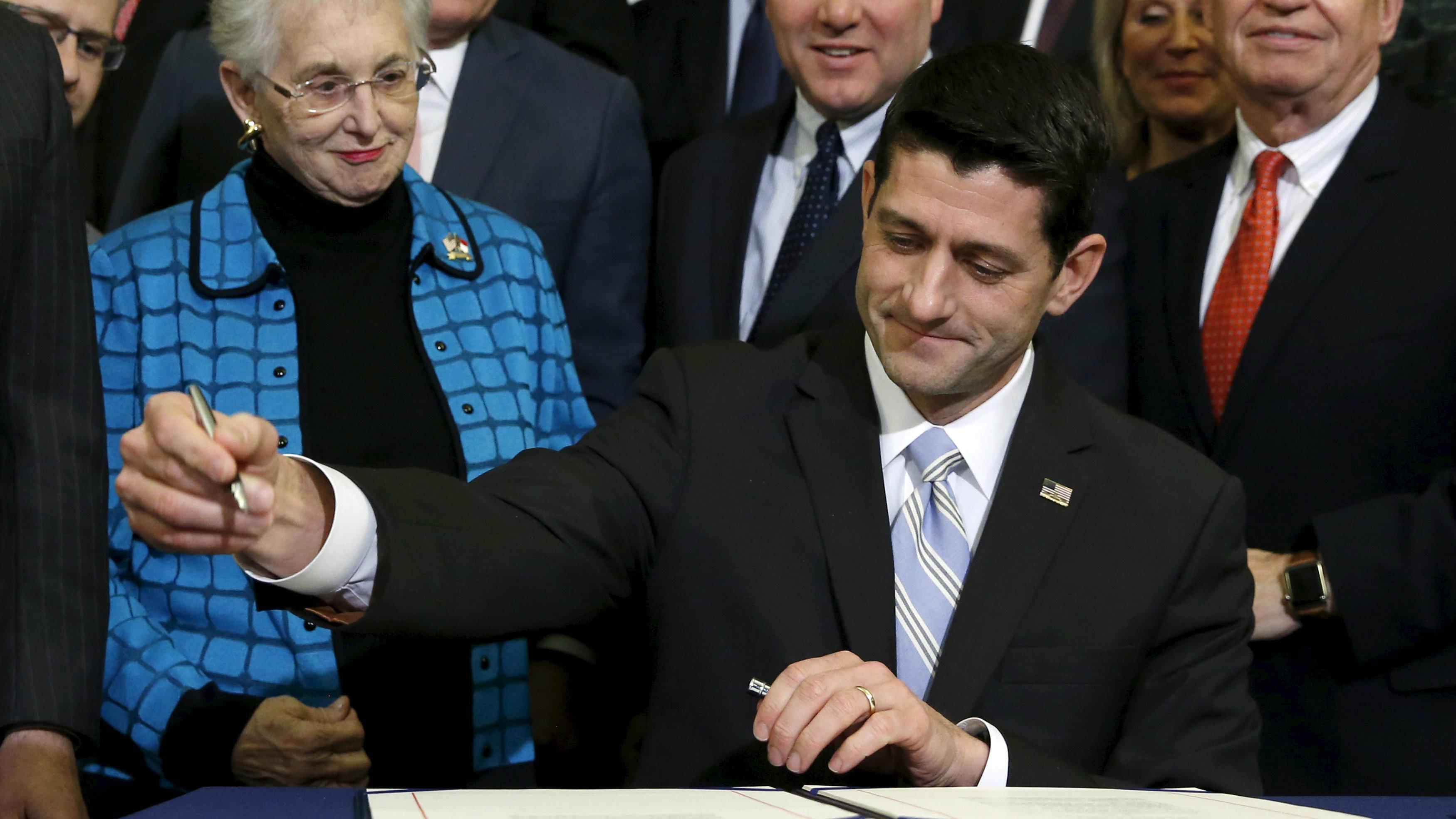 Paul Ryan signing bill