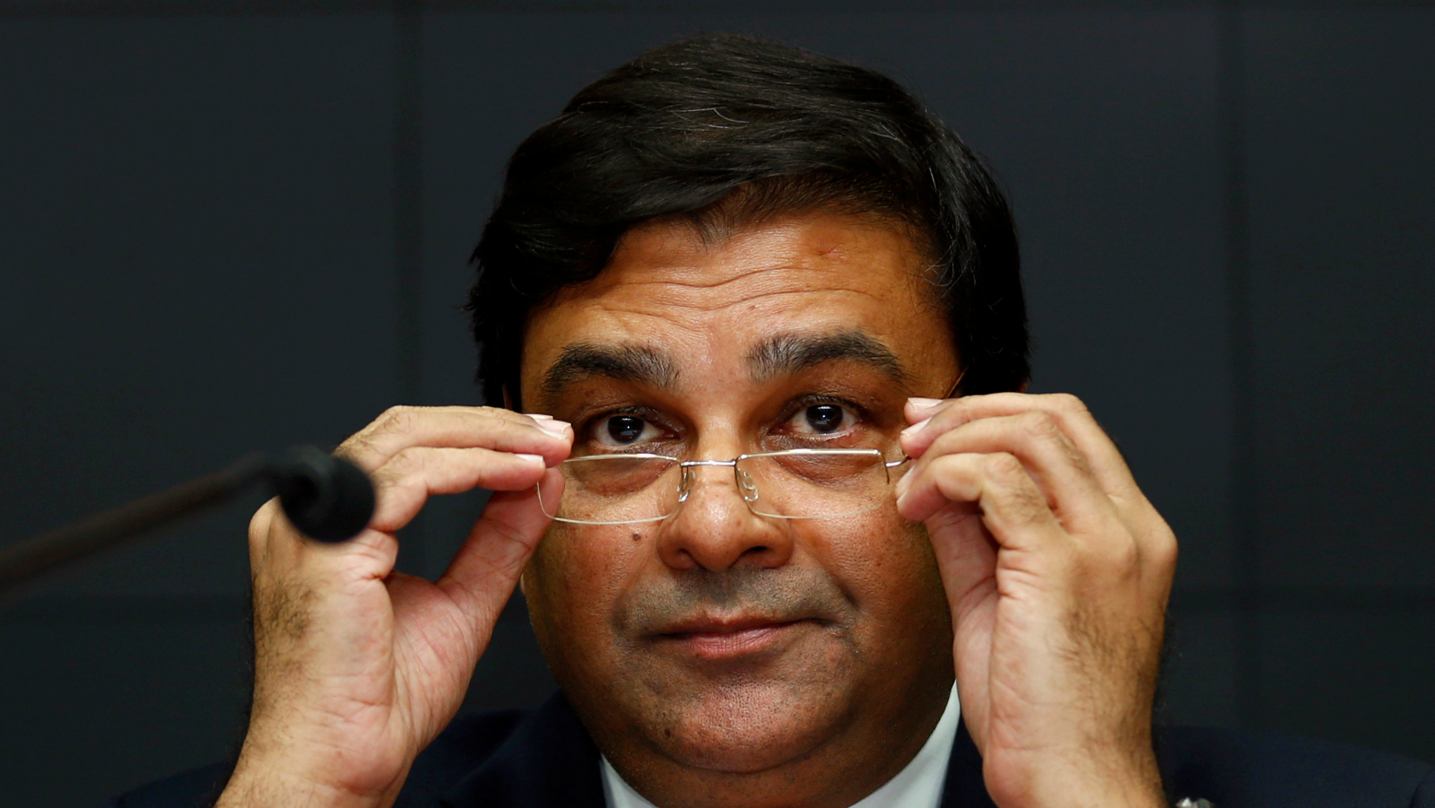 The Reserve Bank of India (RBI) Governor Urjit Patel attends a news conference after the bi-monthly monetary policy review in Mumbai, India, October 4, 2016.