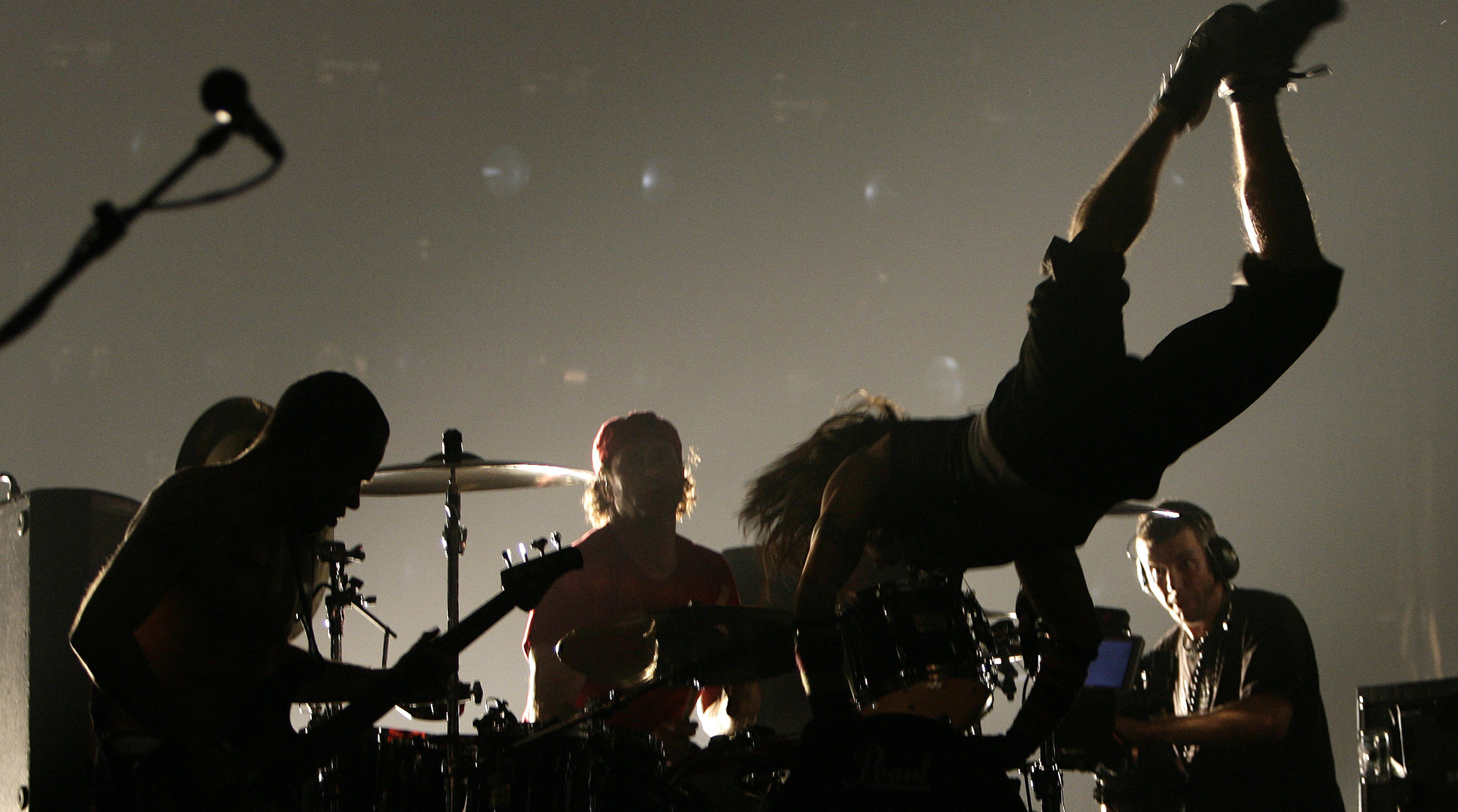 Red Hot Chili Peppers perform at the Brit Awards
