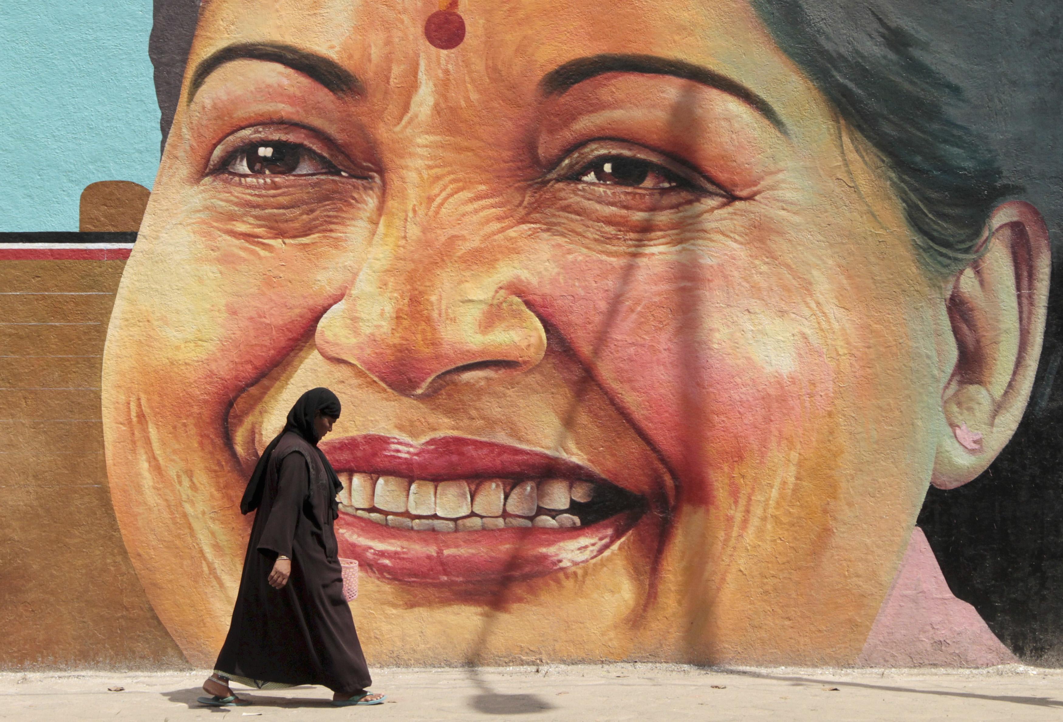 Jayalalithaa-Chennai-mural-India