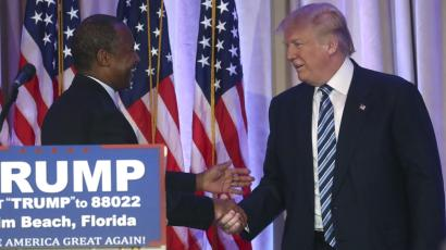 Donald Trump and HUD appointee Ben Carson