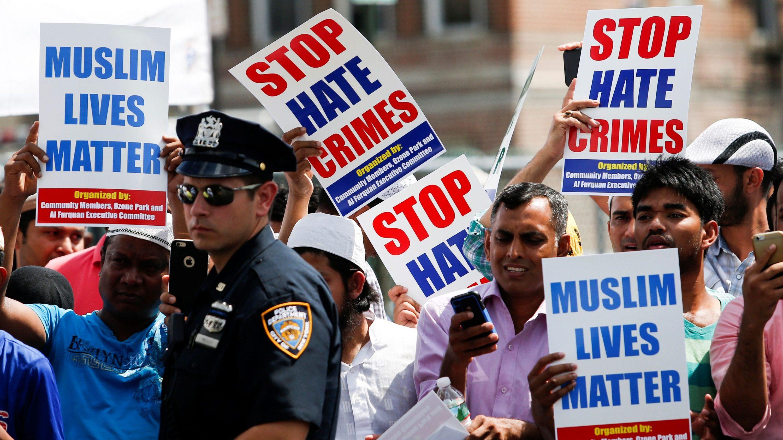 hate crimes protestors