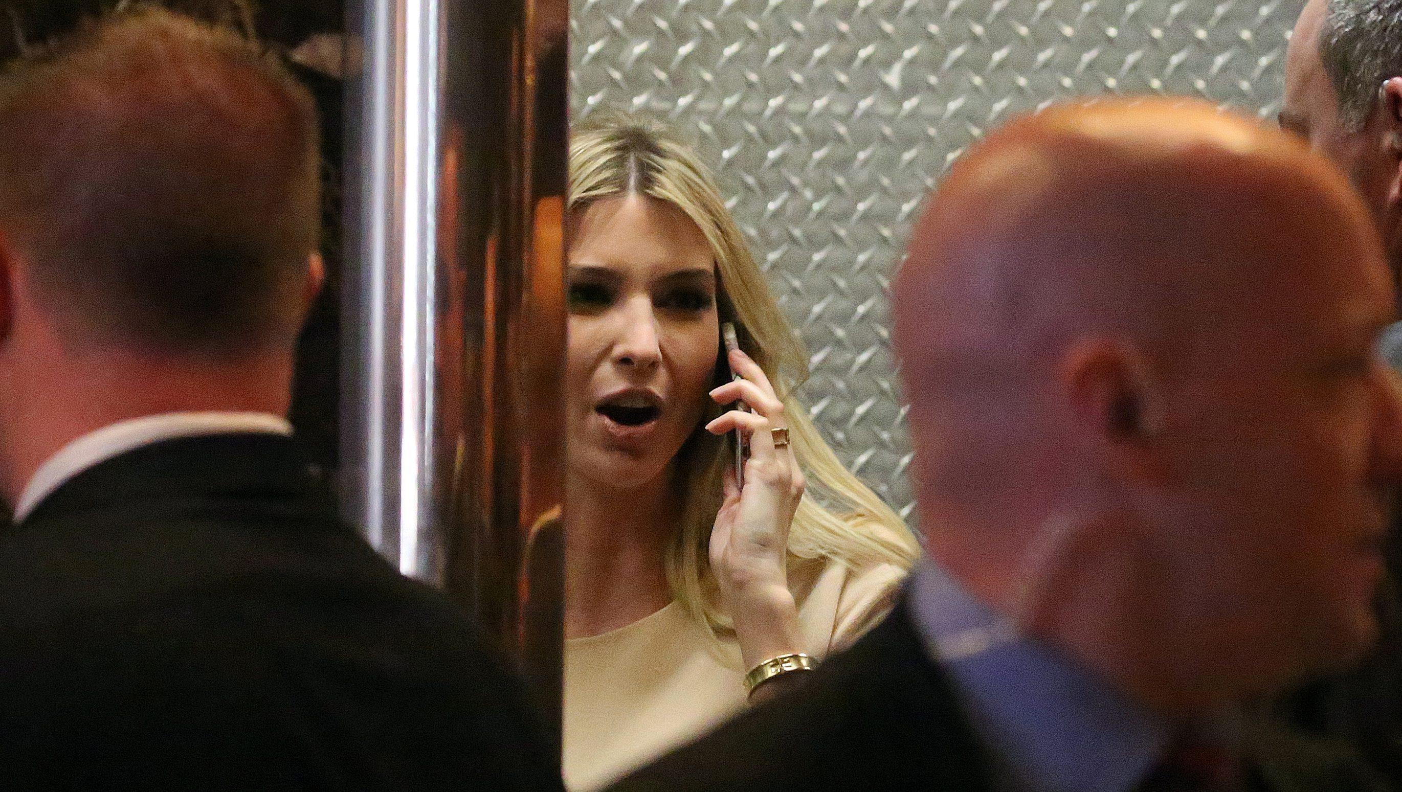 Republican President-elect Donald Trump's daughter Ivanka Trump arrives at Trump Tower in New York, New York, U.S., November 11, 2016. REUTERS/Carlo Allegri - RTX2T985