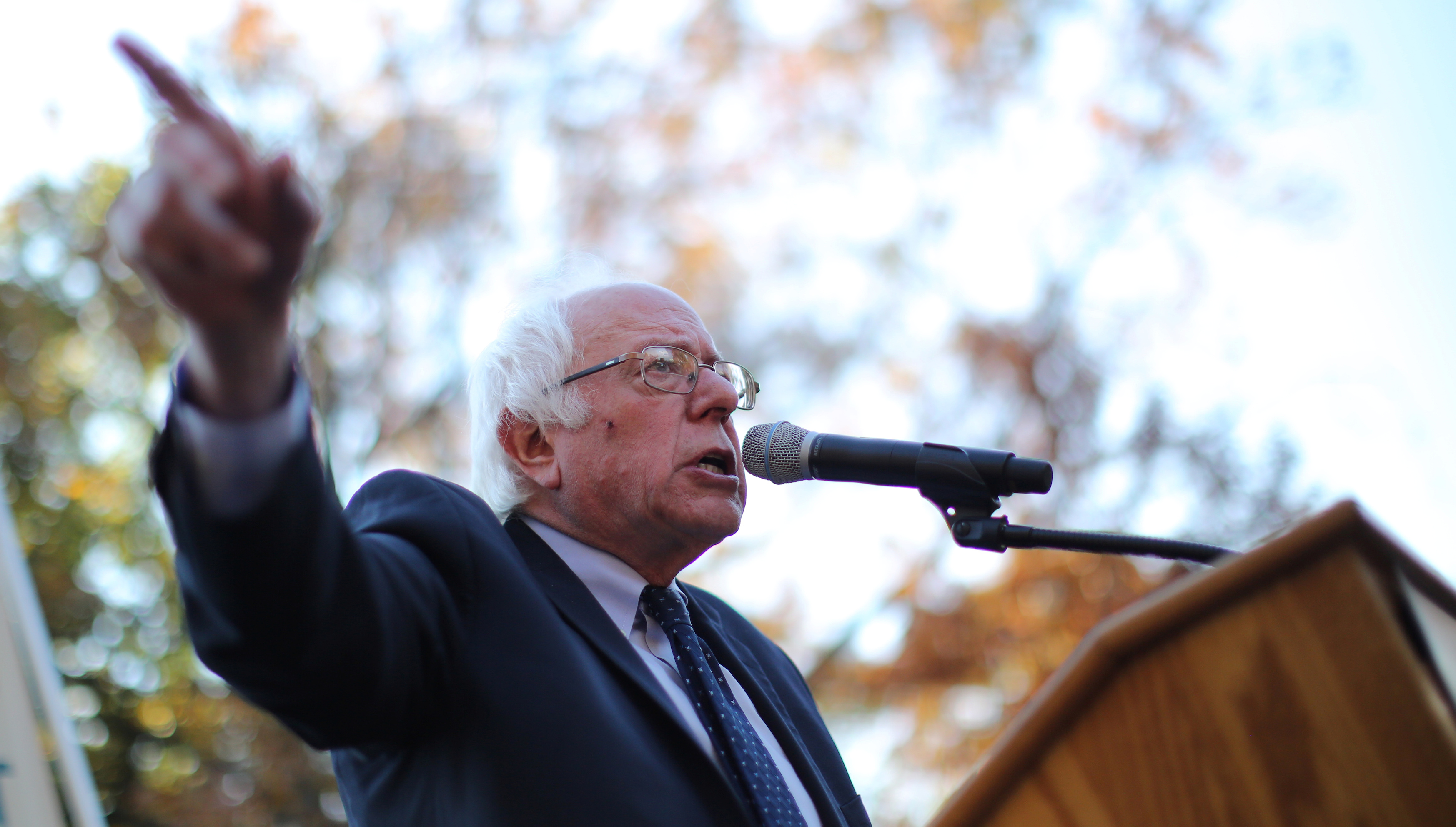 Former Democratic presidential candidate Senator Bernie Sanders (I-VT) speaks during a Capitol Hill rally to promote a people's agenda and a common commitment to stepping up grassroots mobilizations for economic and social justice and equality as the incoming Trump administration takes office in Washington, DC, U.S. November 17, 2016.
