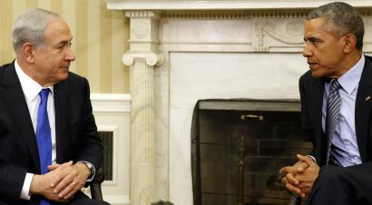 U.S. President Barack Obama meets with Israeli Prime Minister Benjamin Netanyahu in the Oval office