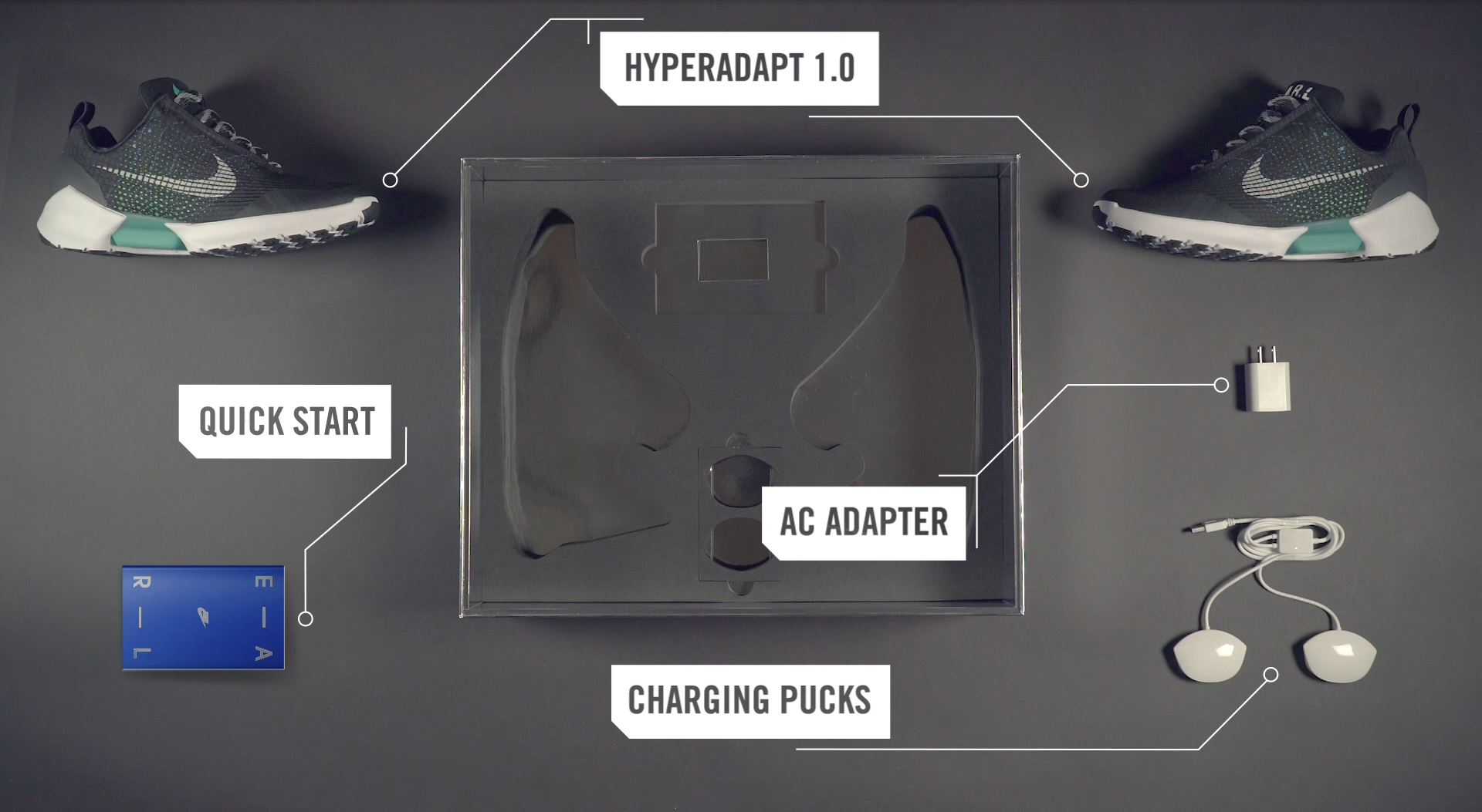 The Nike HyperAdapt 1.0 and its packaging