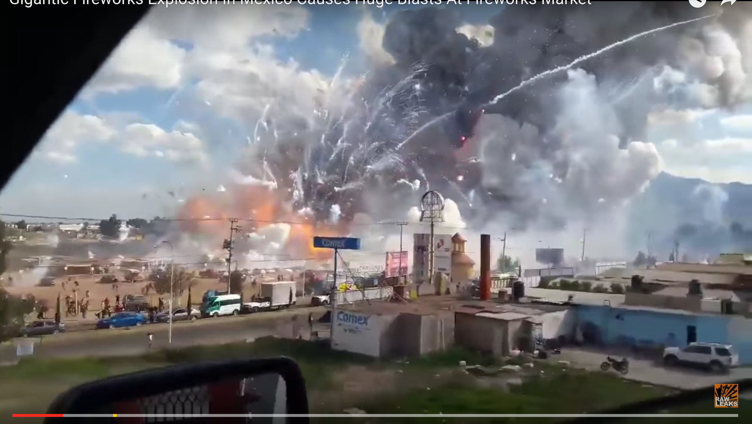 Explosions of the firework market in Tultepec, outskirts of Mexico City, Mexico.