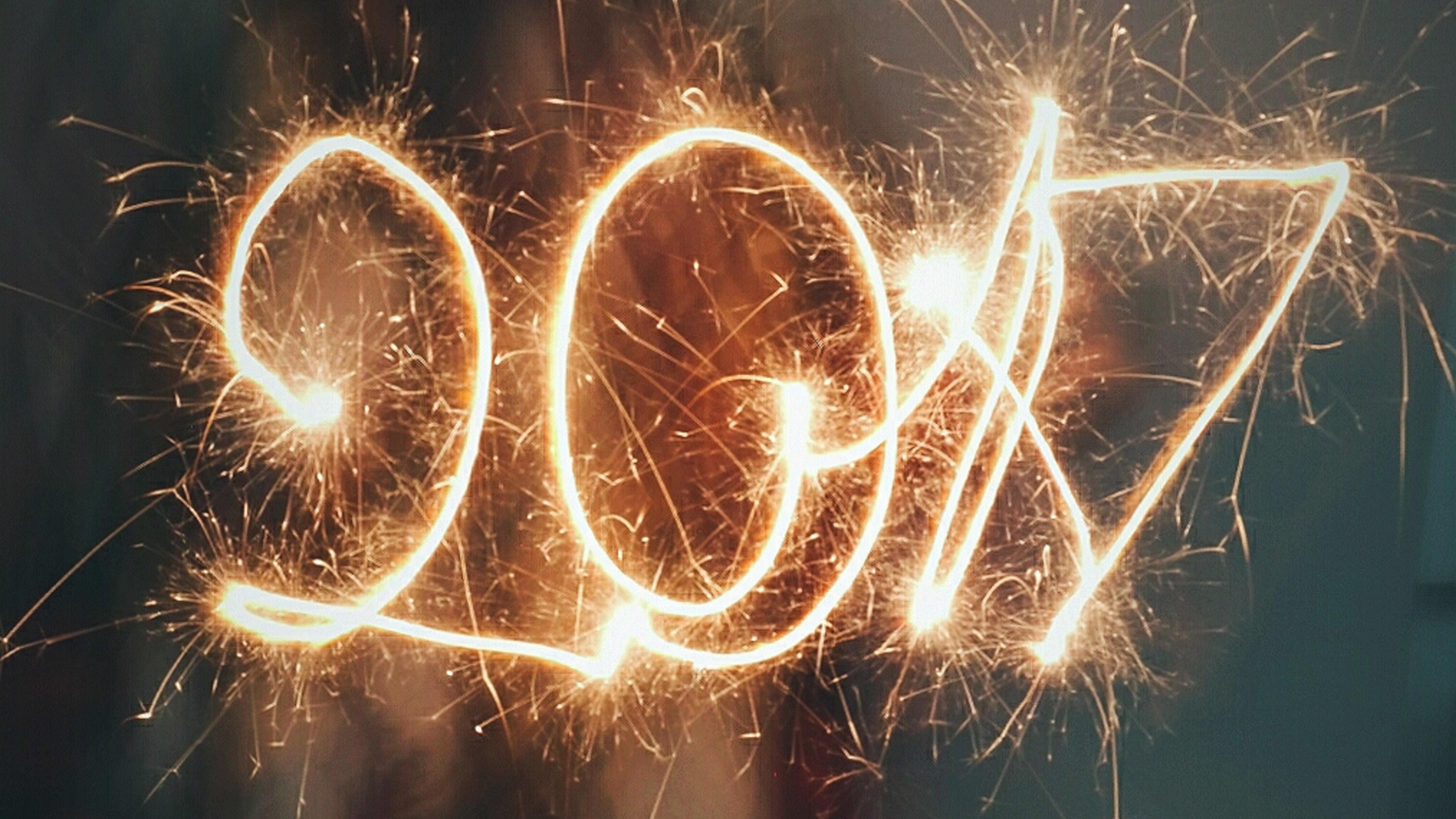2017 is written in sparklers