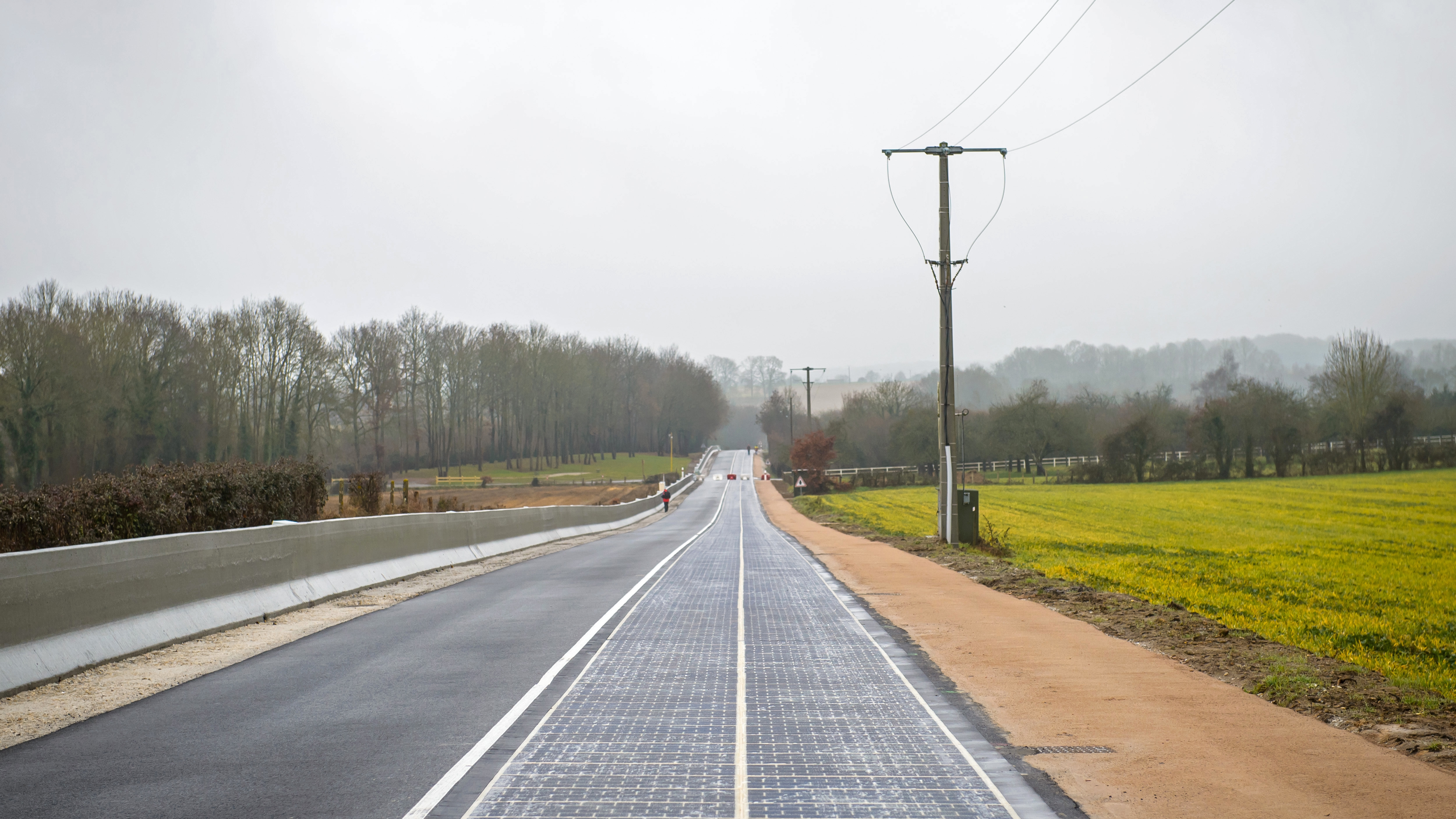 The first road paved in solar panels opened in France — Quartz