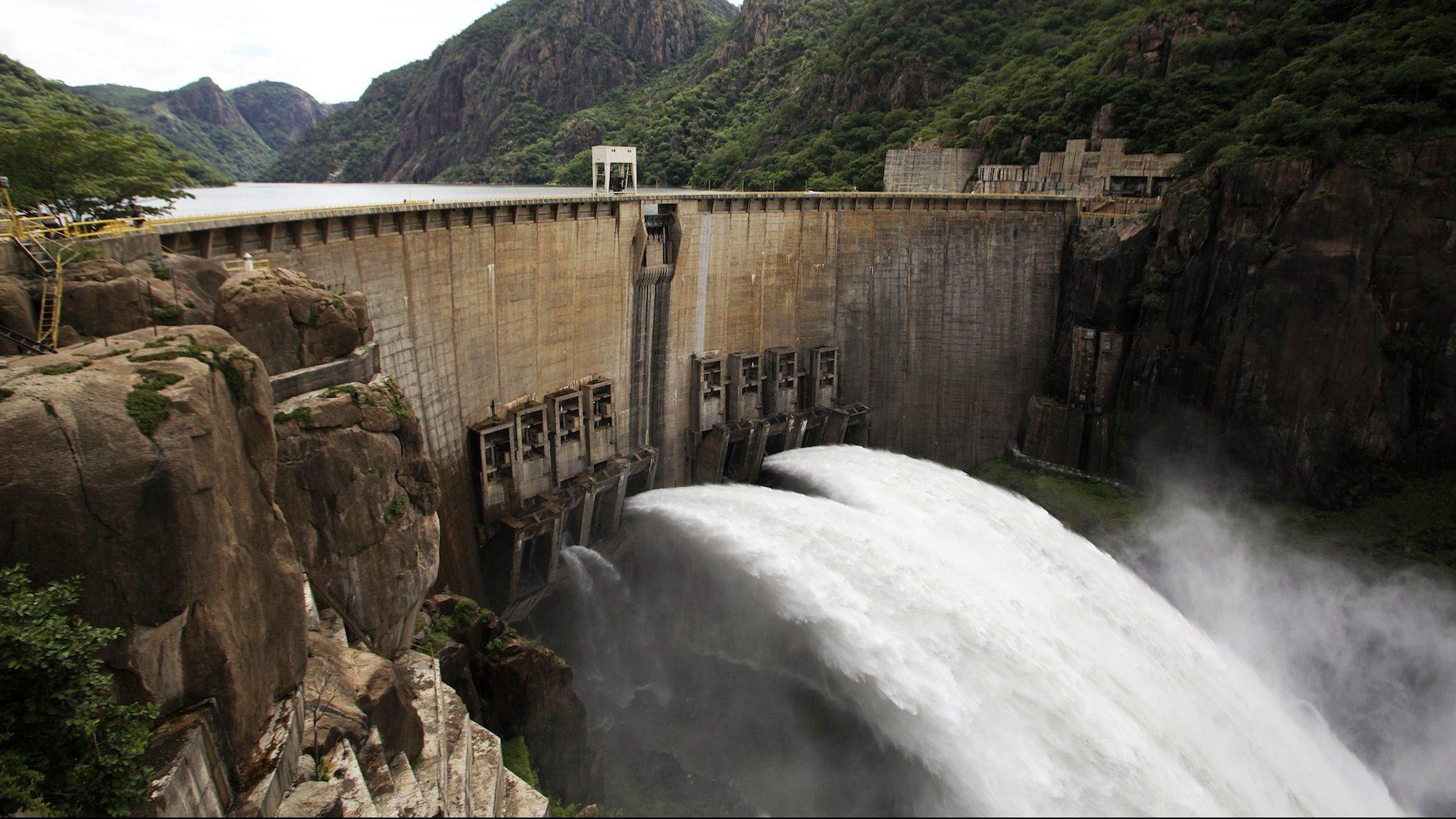the Cahora Bassa Dam, Mozambique.